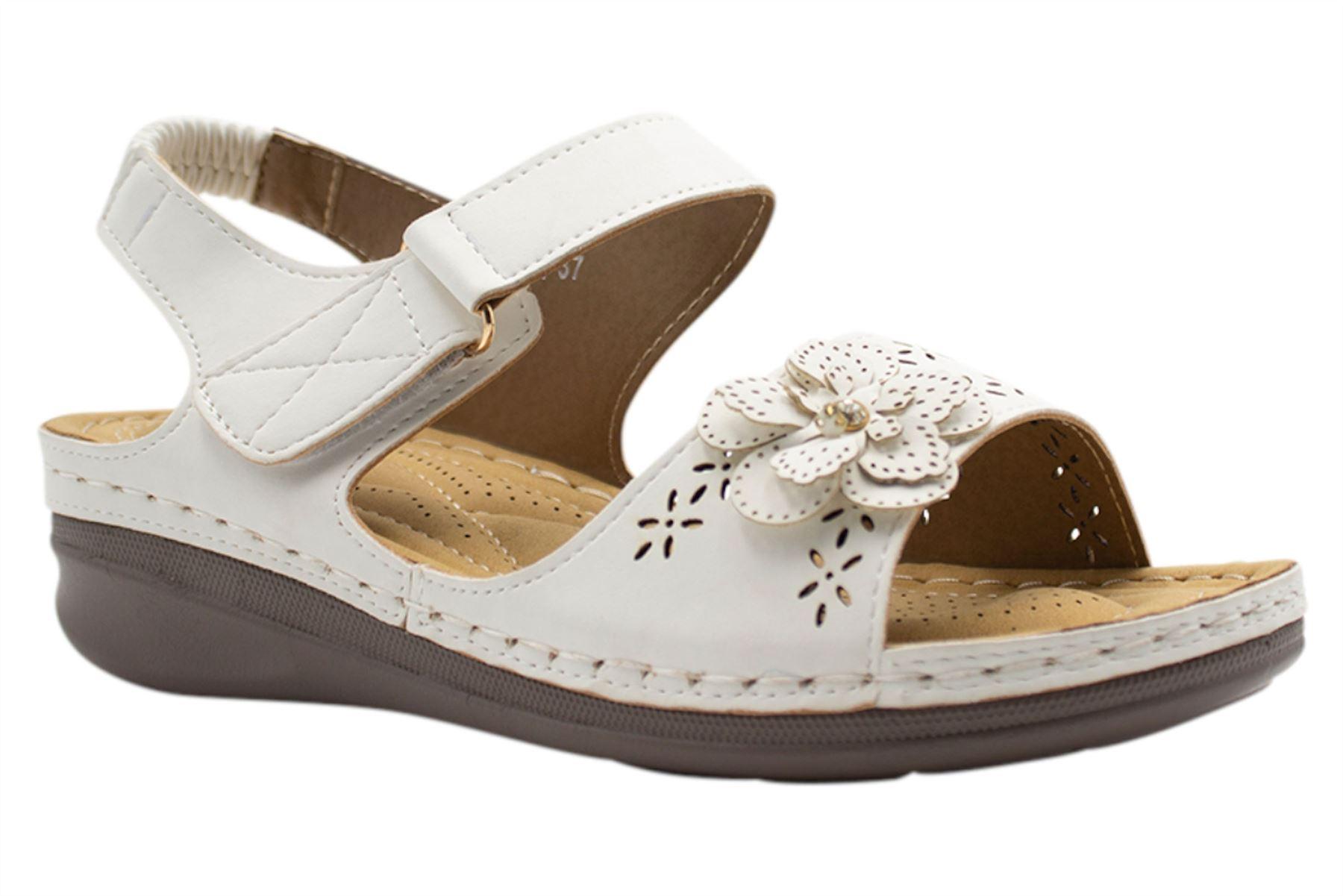 Ladies-Sandals-Womens-Mid-Heel-Comfort-Summer-Beach-Casual-Wear miniatura 41