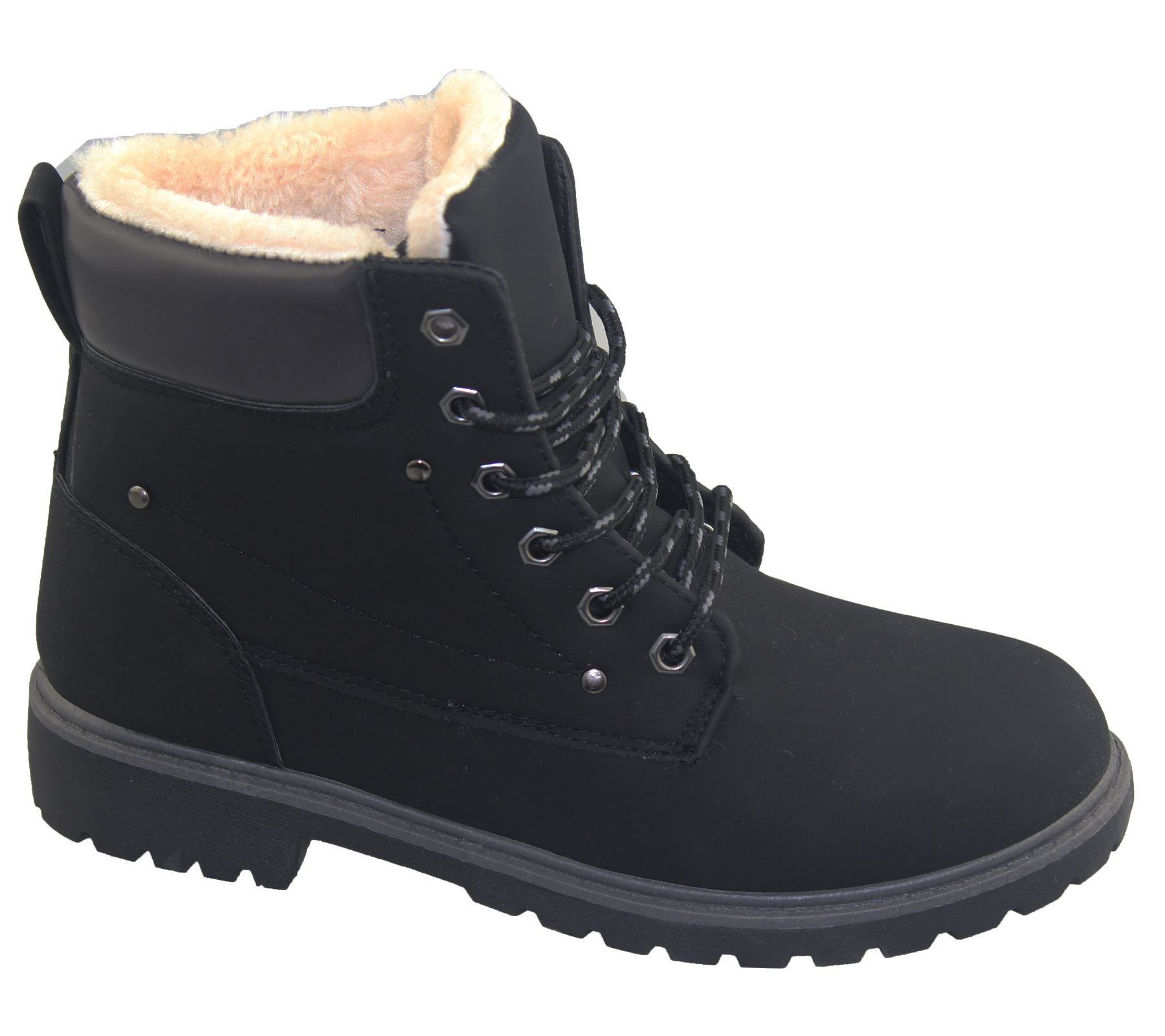 Womens Warm Ankle Boots Combat Hiking Work High Top Desert ...