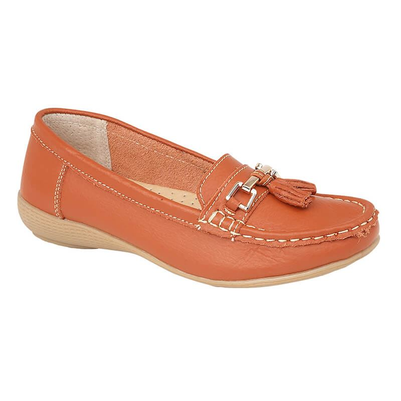 Ladies-Leather-Loafer-Plimsole-Pumps-Womens-Tassel-Flat-Shoes