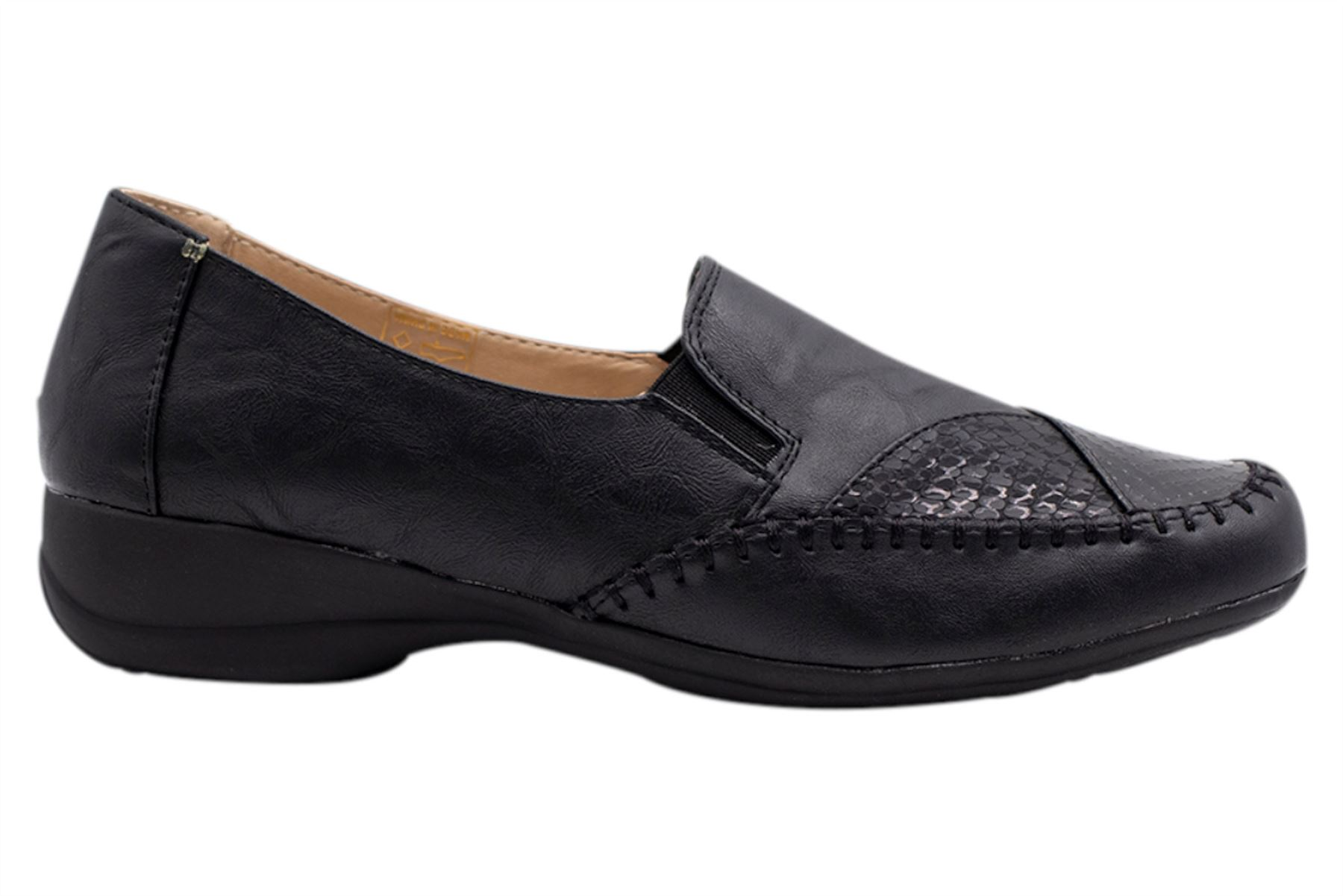 Womens-Flat-Shoes-Ladies-Pumps-Office-Work-Casual-Slip-On-Loafer-Size thumbnail 17