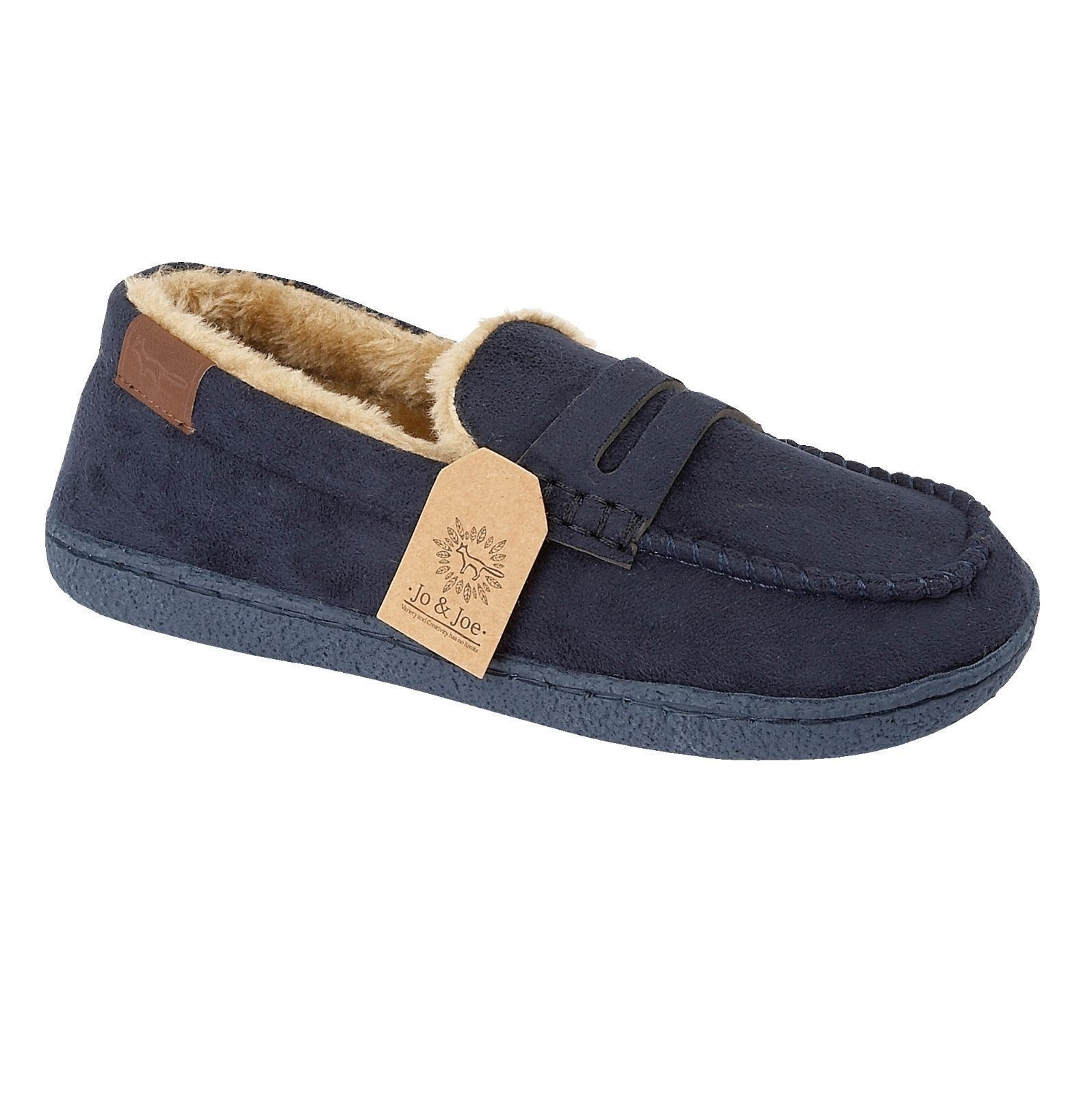 Mens-Faux-Suede-Leather-Moccasin-Slippers-Loafers-Casual-Shoes miniatura 24