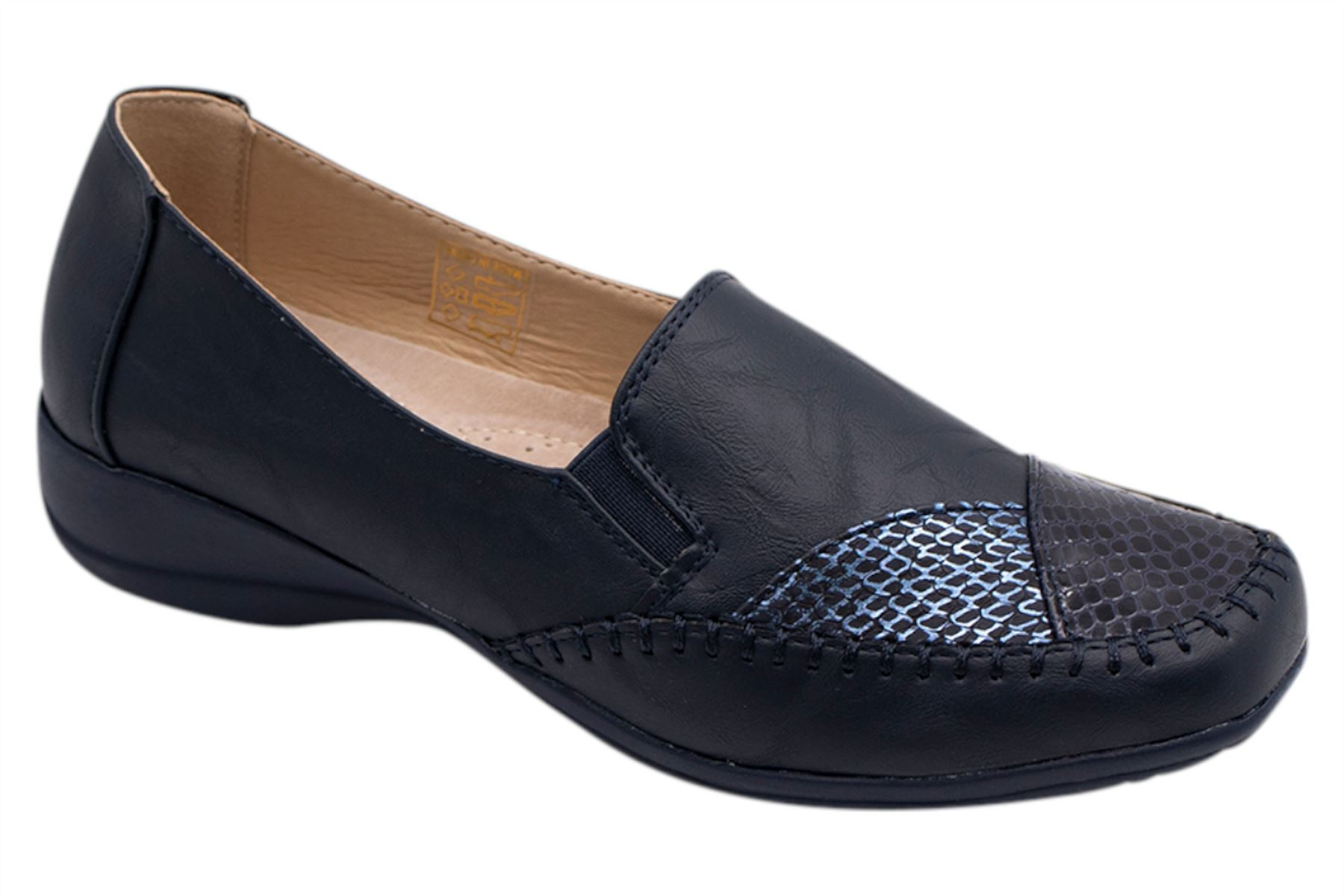 Womens-Flat-Shoes-Ladies-Pumps-Office-Work-Casual-Slip-On-Loafer-Size thumbnail 19