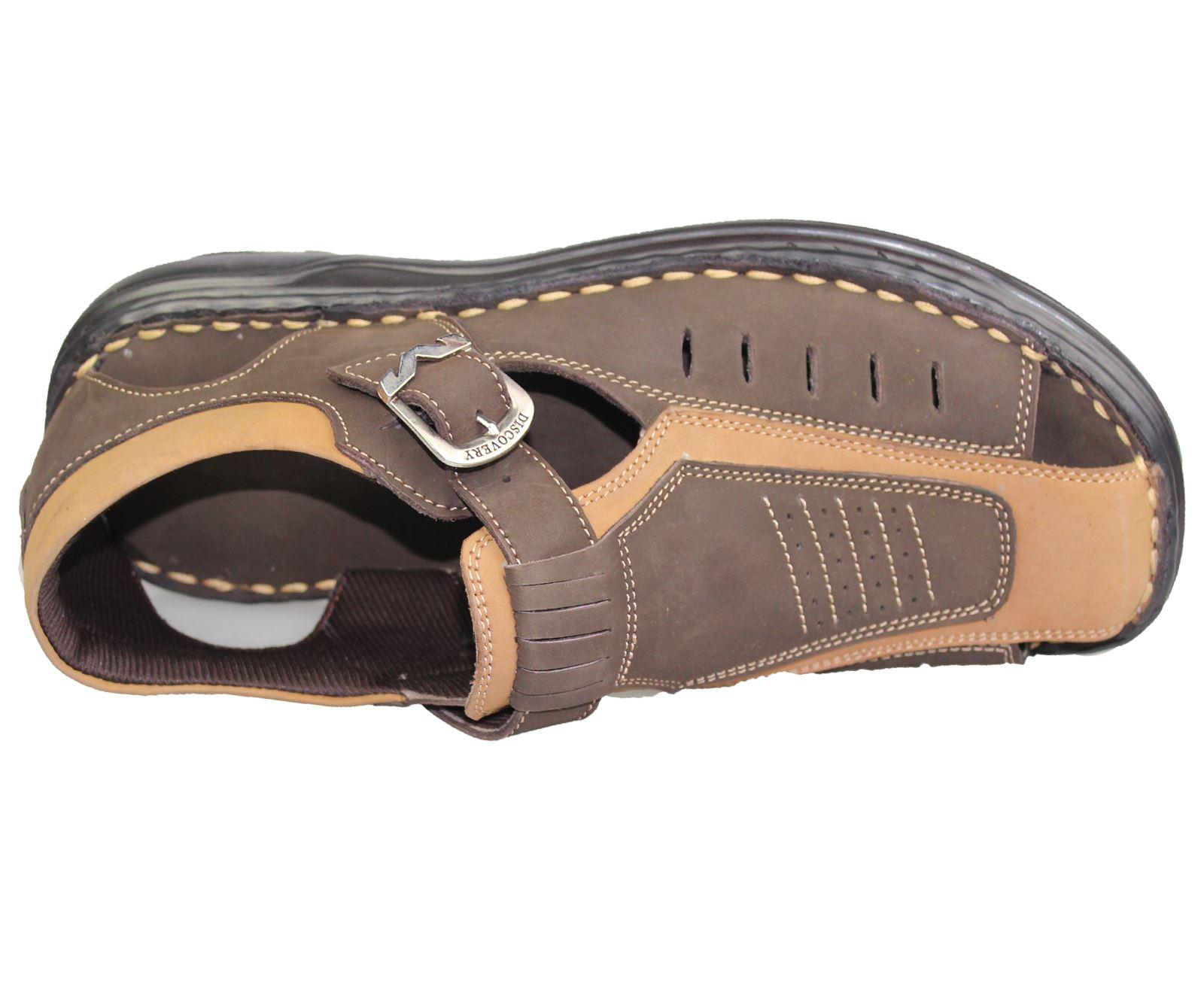 Mens-Buckle-Fastening-Sandals-Flat-Beach-Walking-Fashion-Casual-Summer-Slipper miniatura 11