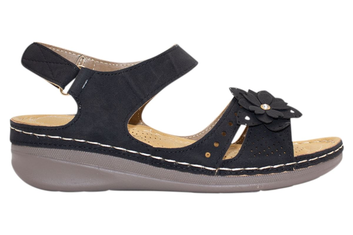 Ladies-Wedge-Heel-Sandal-Womens-Comfort-Cushion-Strapy-Summer-Shoes miniatura 16
