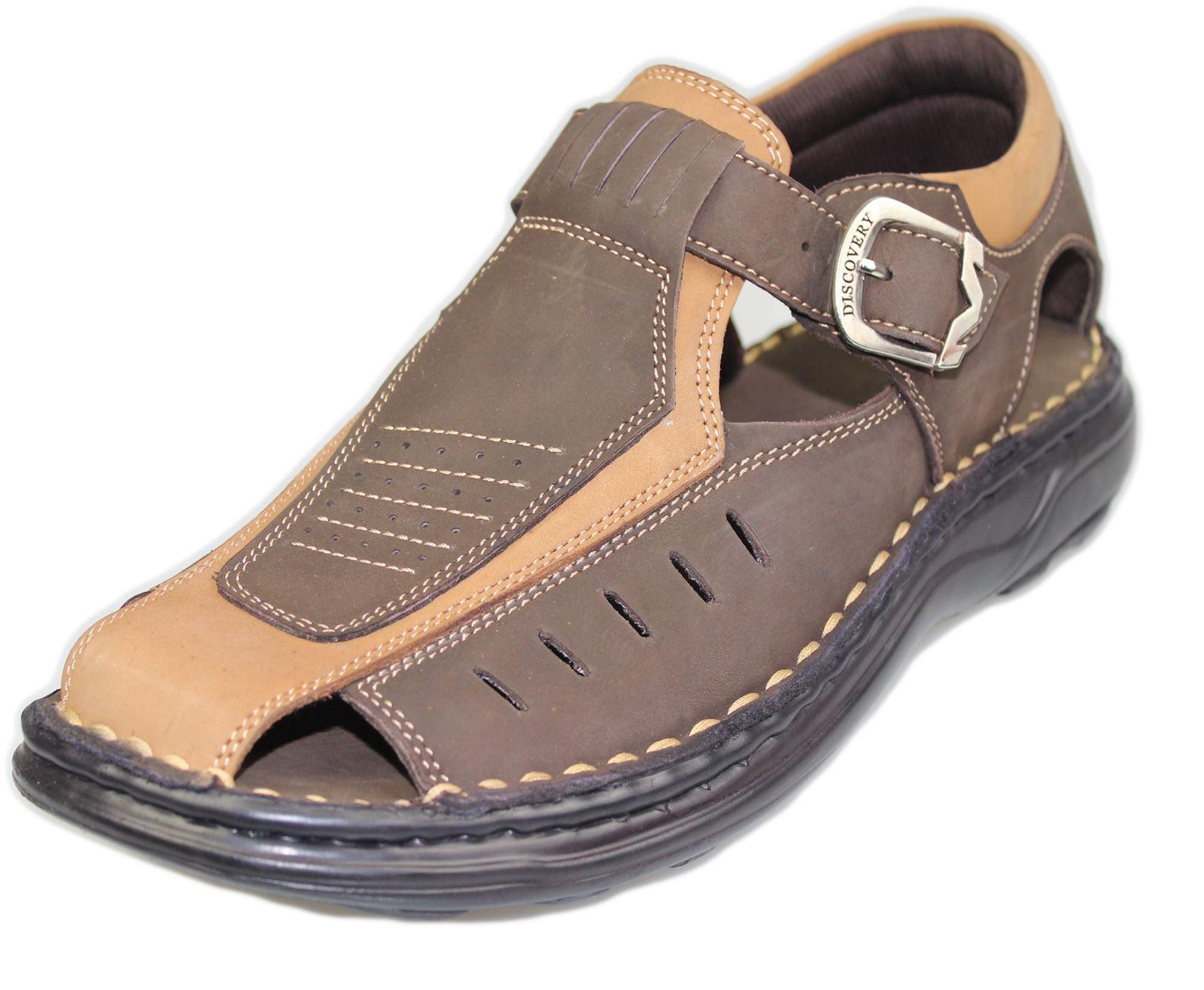 Mens-Buckle-Fastening-Sandals-Flat-Beach-Walking-Fashion-Casual-Summer-Slipper miniatura 12
