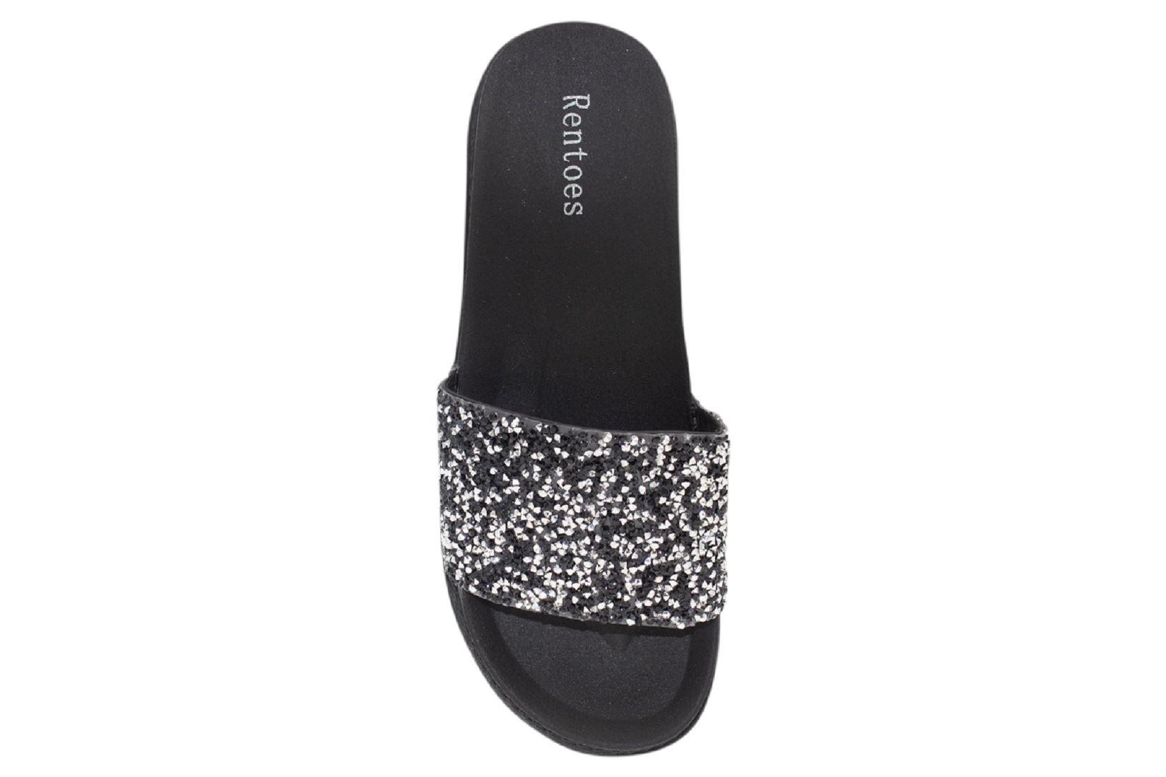 Womens-Sliders-Casual-Slippers-Mules-Ladies-Diamante-Flip-Flop-Sandals-Shoes thumbnail 7