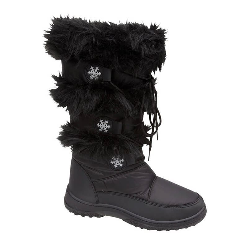 Women-And-Girls-Snow-Boots-Ladies-Winter-Warm-Fur-Lined-Flat-Shoes