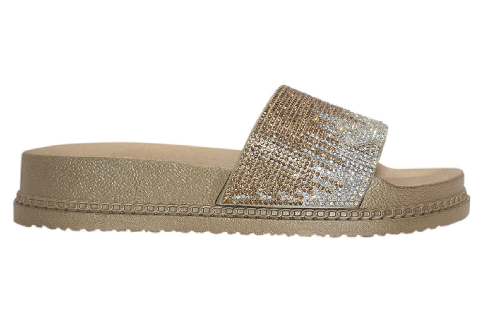 Womens-Sliders-Casual-Slippers-Mules-Ladies-Diamante-Flip-Flop-Sandals-Shoes thumbnail 50