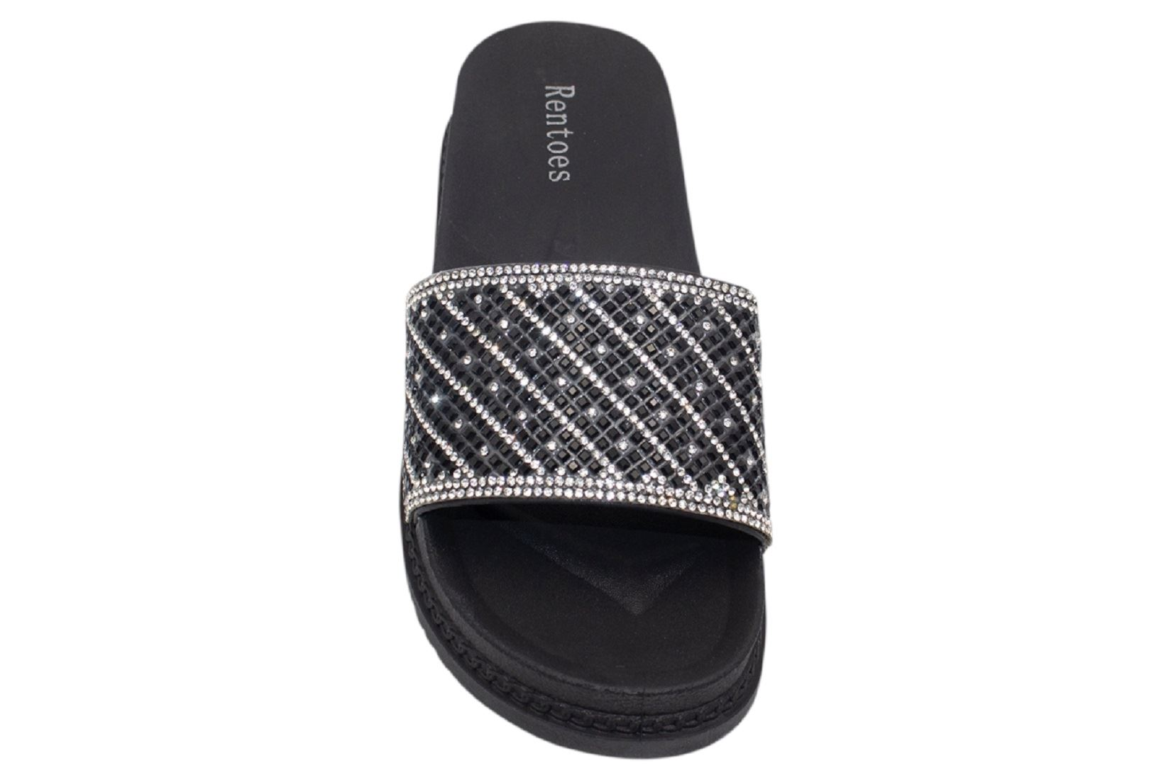 Womens-Sliders-Casual-Slippers-Mules-Ladies-Diamante-Flip-Flop-Sandals-Shoes thumbnail 78