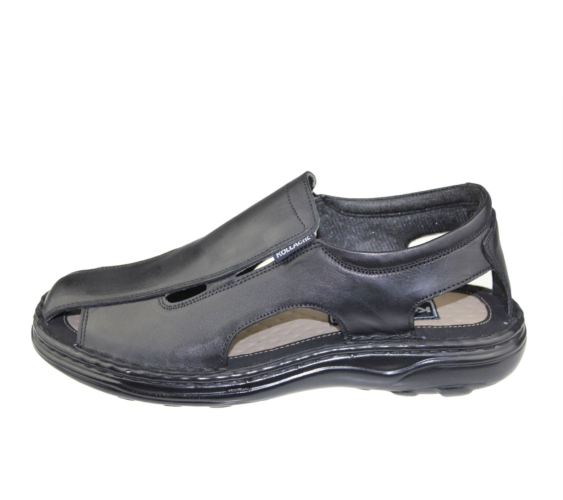 Mens-Slip-On-Sandals-Casual-Beach-Fashion-Casual-Walking-Leather-Wide-Fit-Shoes thumbnail 3
