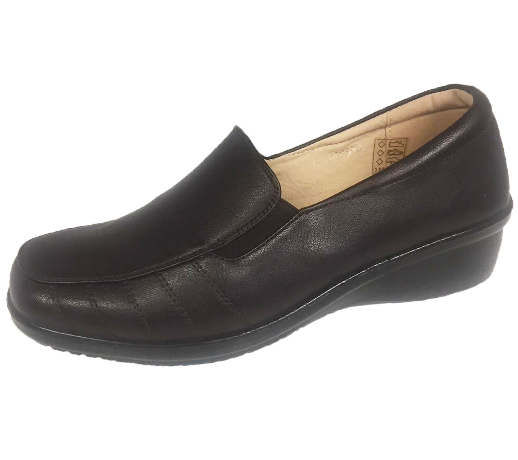 Ladies-Loafer-Moccasin-Womens-Casual-Comfort-Walk-Pumps-Slip-On-Shoes thumbnail 12