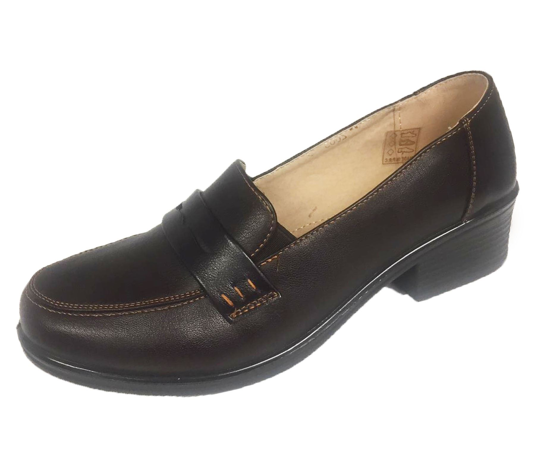 Easy Slip On Leather Shoes Ladies