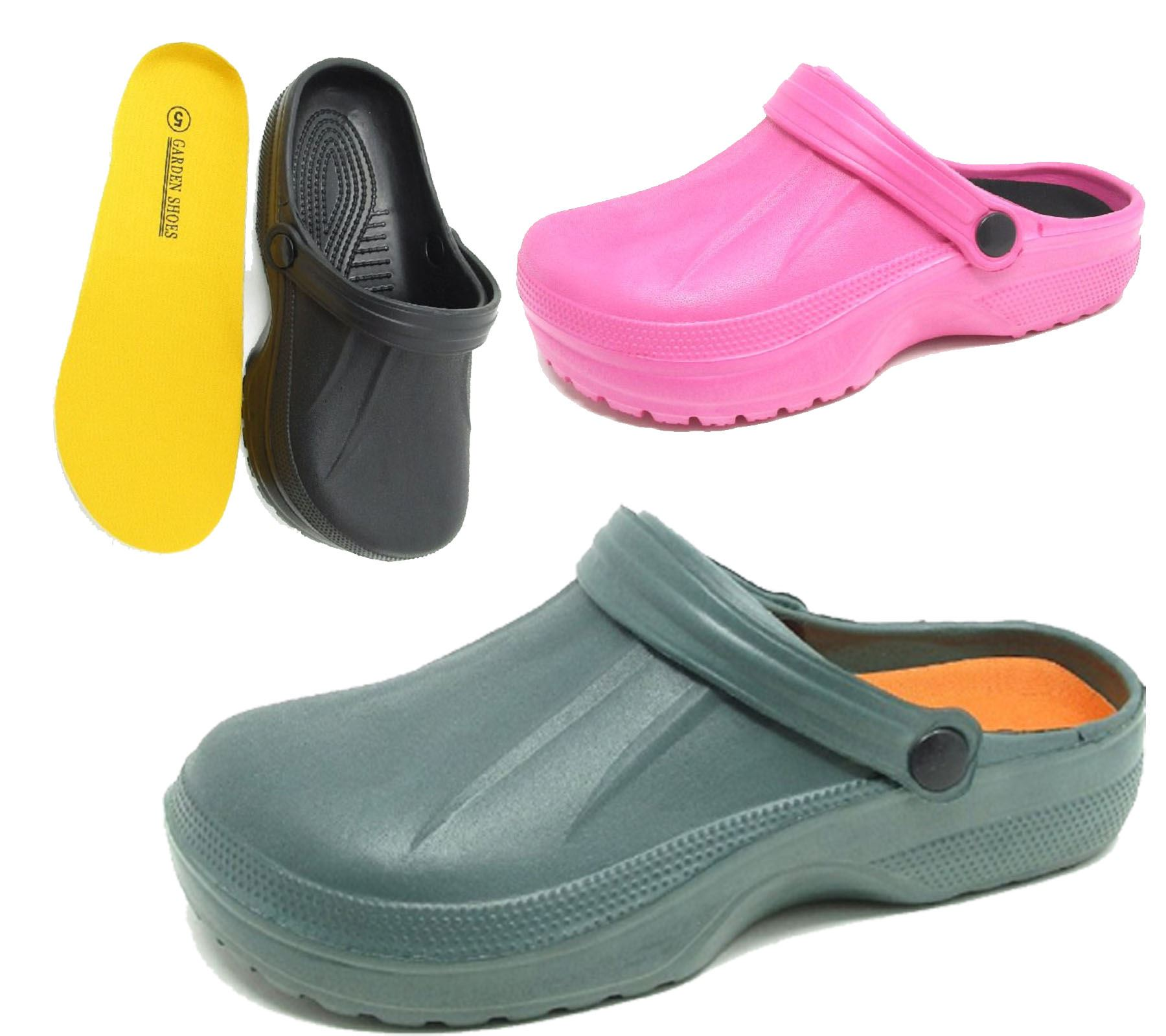 Womens Clogs Mules Slipper Nursing Garden Beach Sandals Hospital ... 9d181fbbdf1