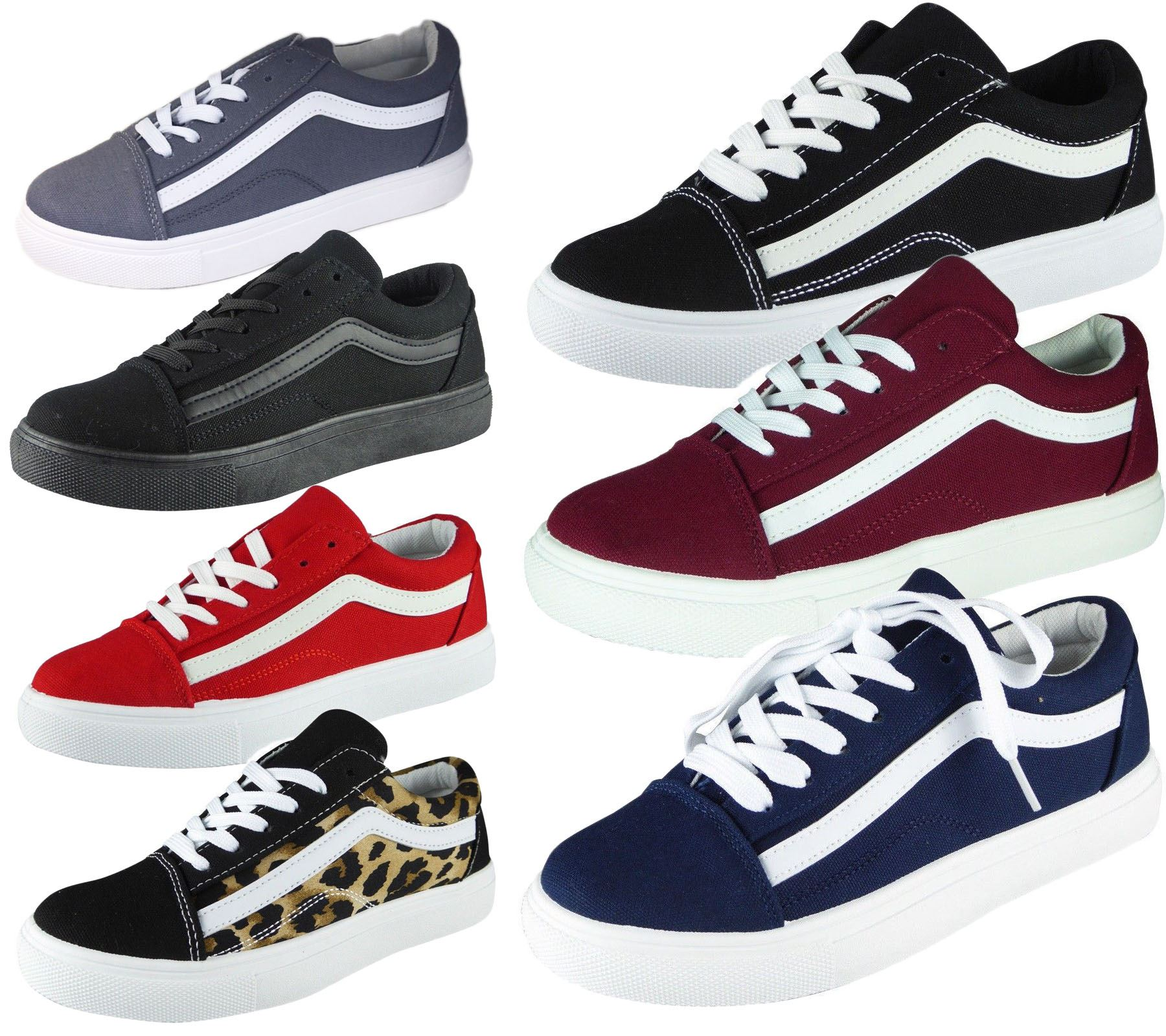 NEW WOMENS LADIES LACE UP FASHION TRAINERS PUMPS SPORTS GYM JOGGING SHOES SIZE