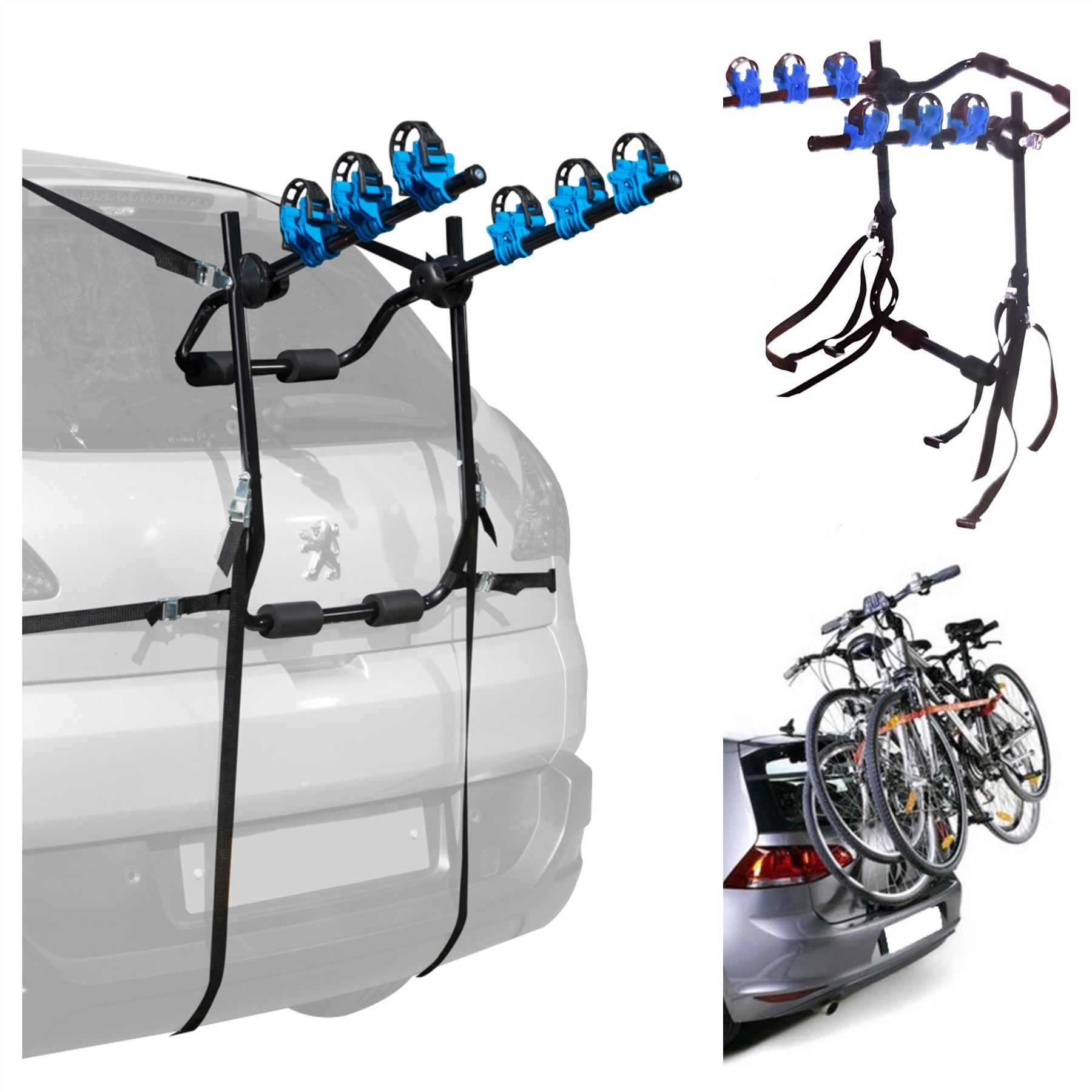 fits Volvo XC60 3 Cycle Carrier Rear Tailgate Boot Bike Rack Bicycle