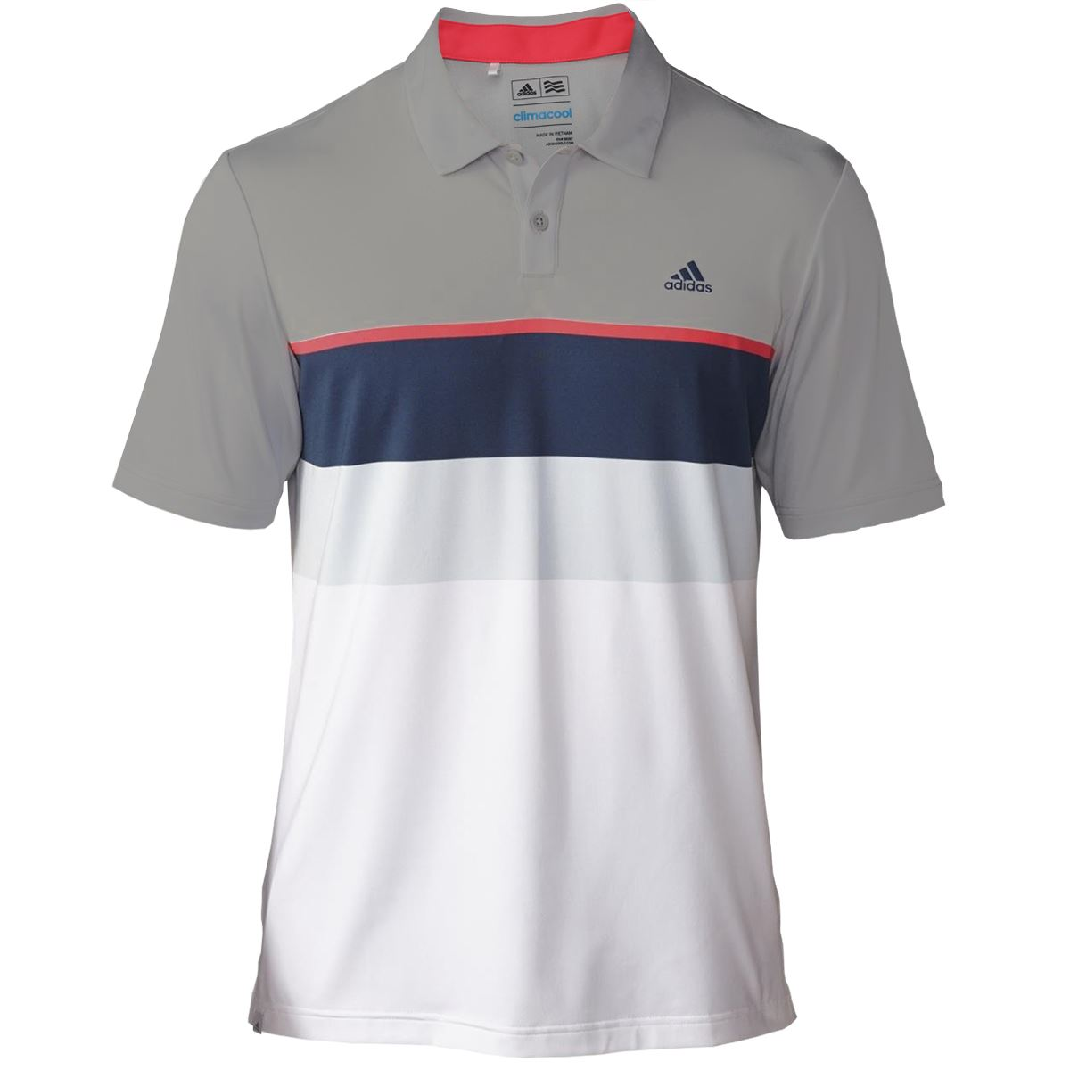 Adidas golf mens climacool engineered striped golf polo for Mens golf polo shirts