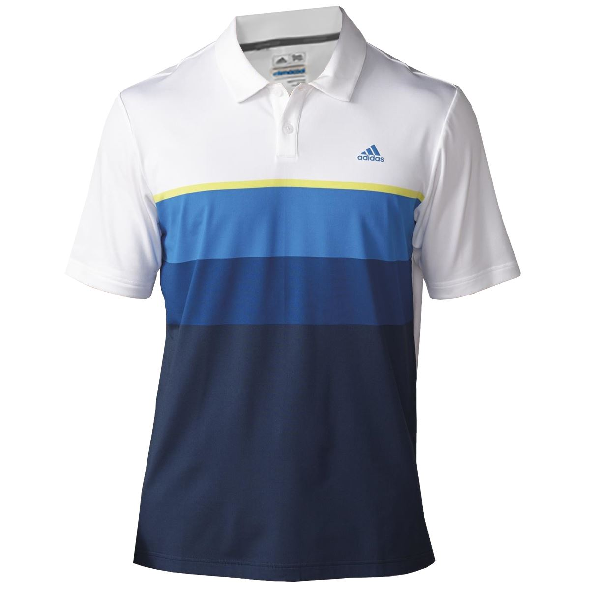 Adidas golf mens climacool engineered striped golf polo for Polo golf shirts for men