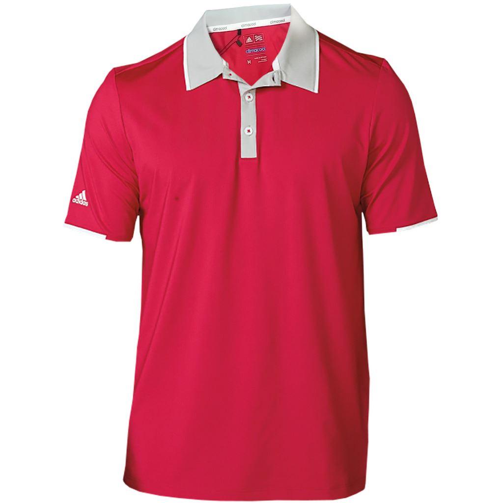 Adidas mens climacool performance lightweight sleeve logo for Amazon logo polo shirts