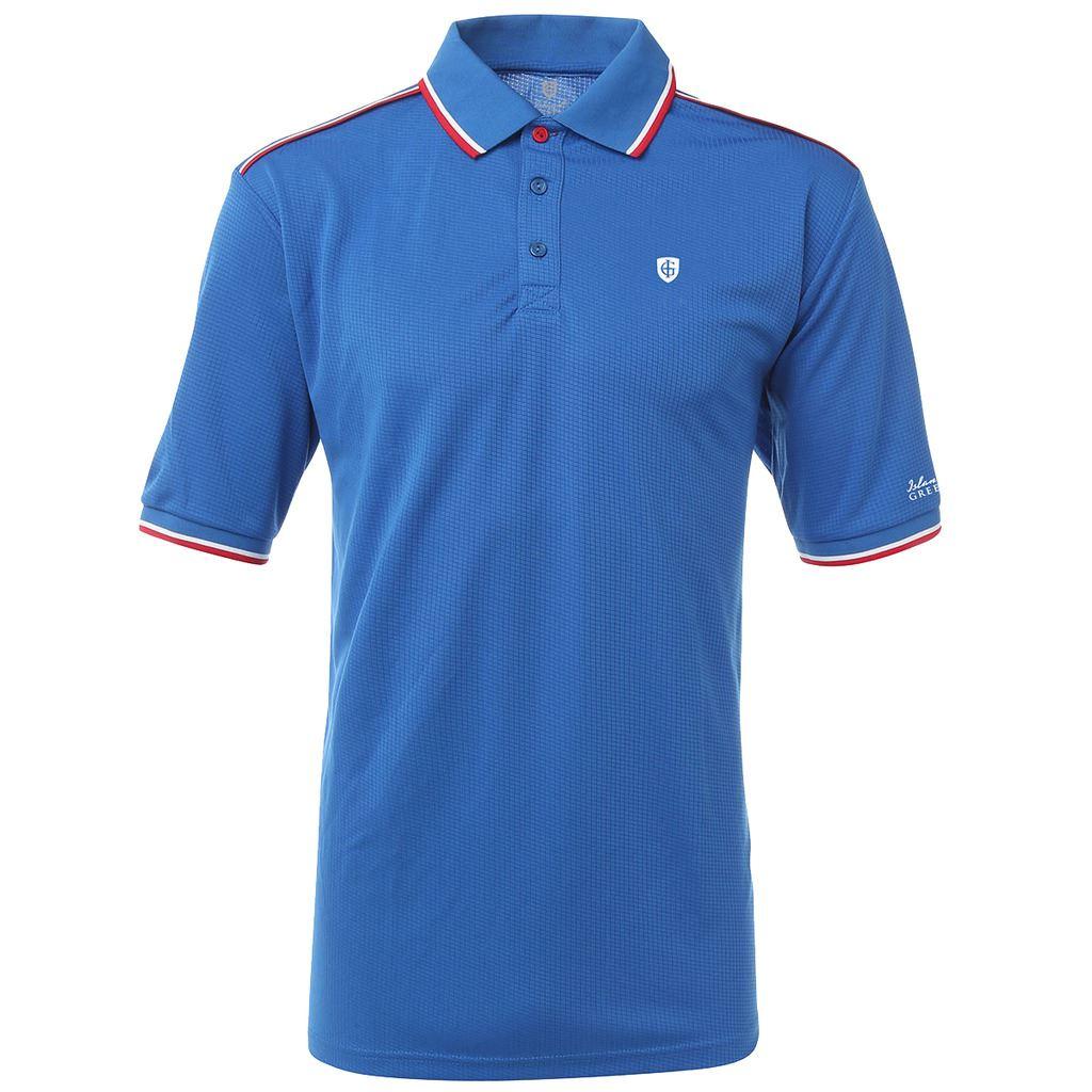 Island green coolpass logo chest short sleeve performance for Polo golf performance shirt