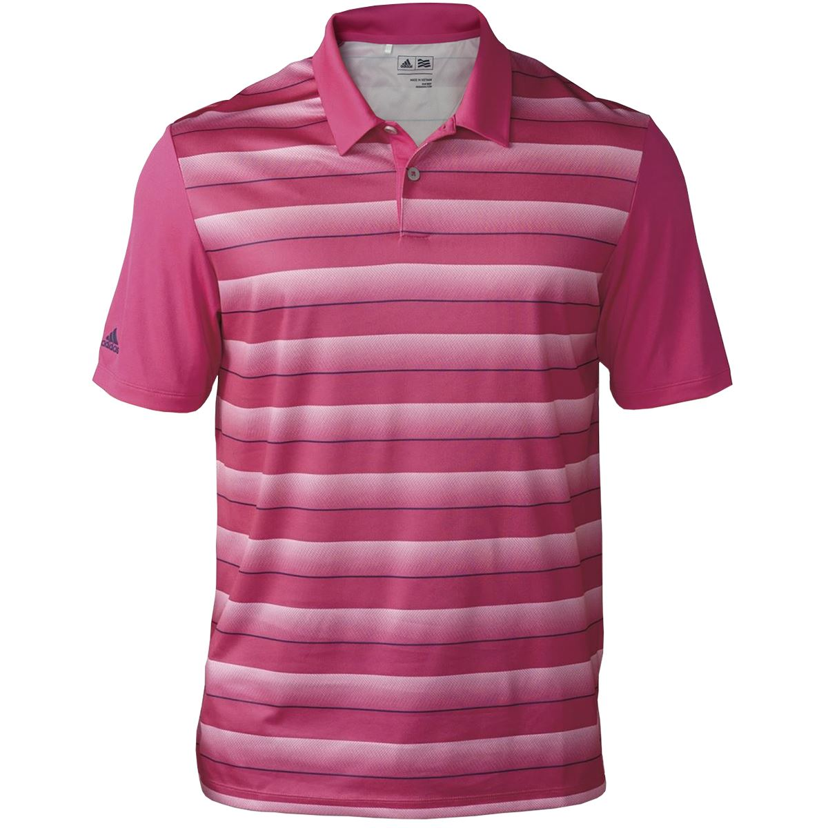 2016 Adidas Mens Performance Striped Golf Polo Shirt Ebay