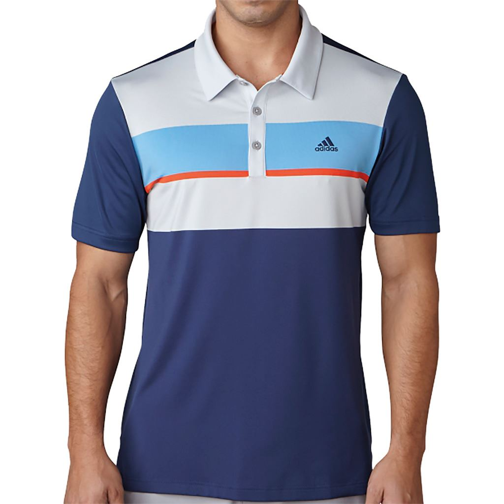 adidas mens climacool engineered block polo