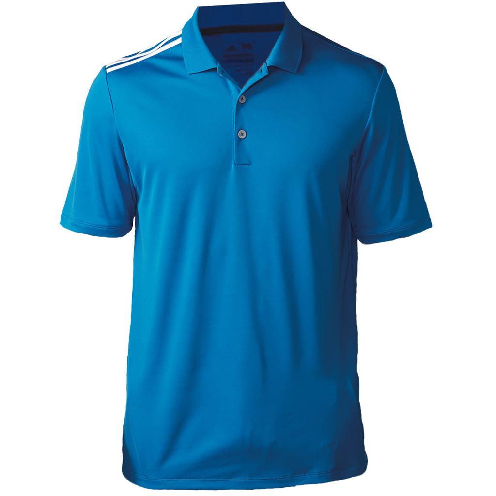 adidas mens climacool 3 stripes golf polo shirt ebay. Black Bedroom Furniture Sets. Home Design Ideas
