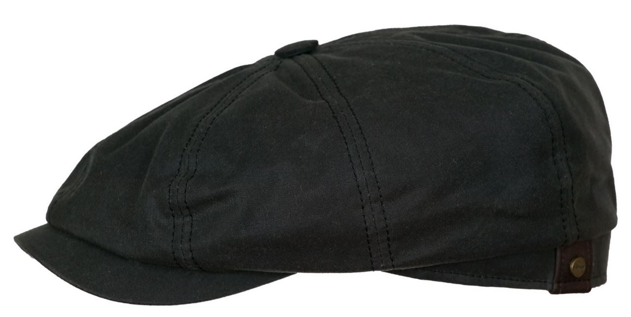 89730136372 Stetson Hatteras Waxed Cotton Newsboy Cap