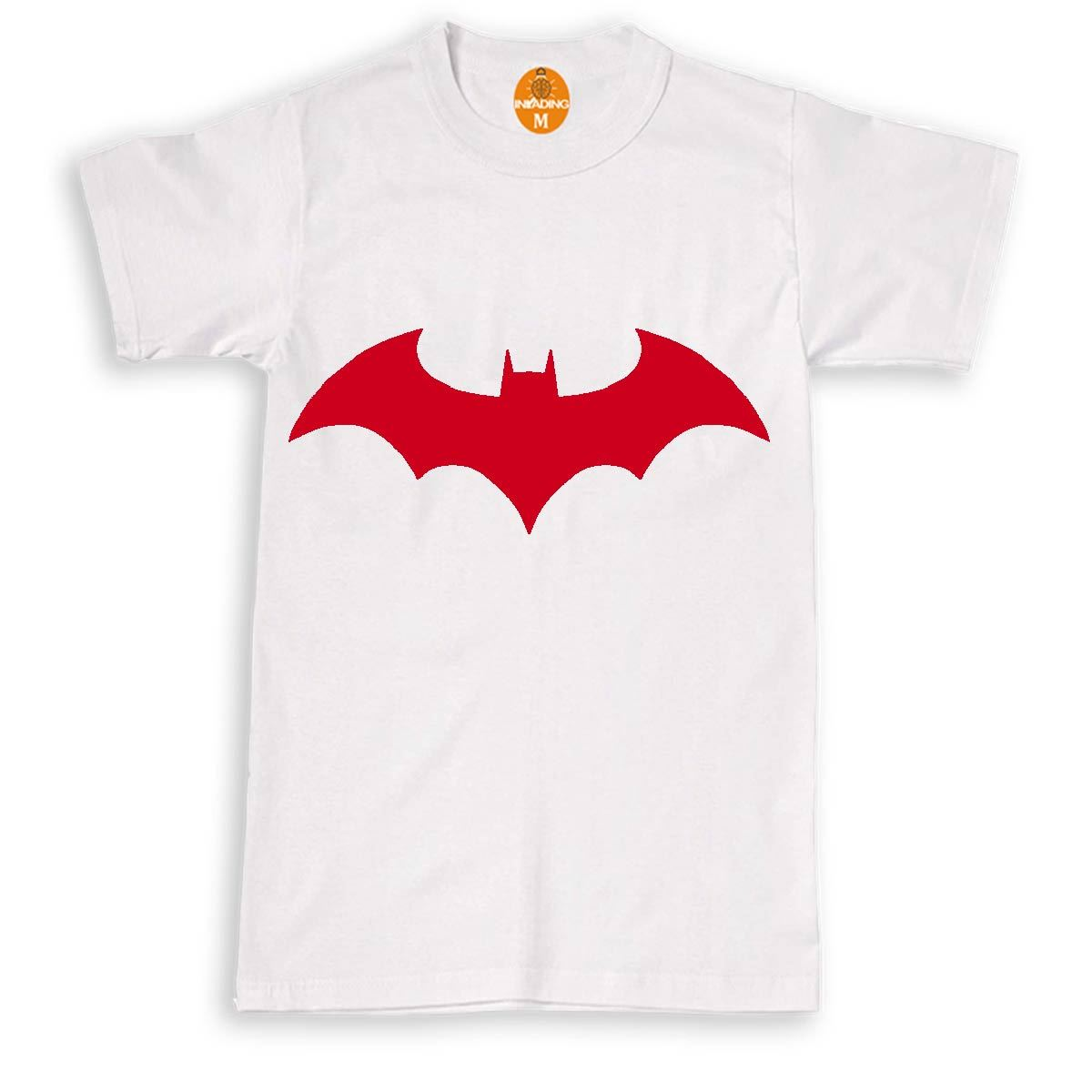batman chest logo t-shirt team bat t-shirt halloween costume tee (s