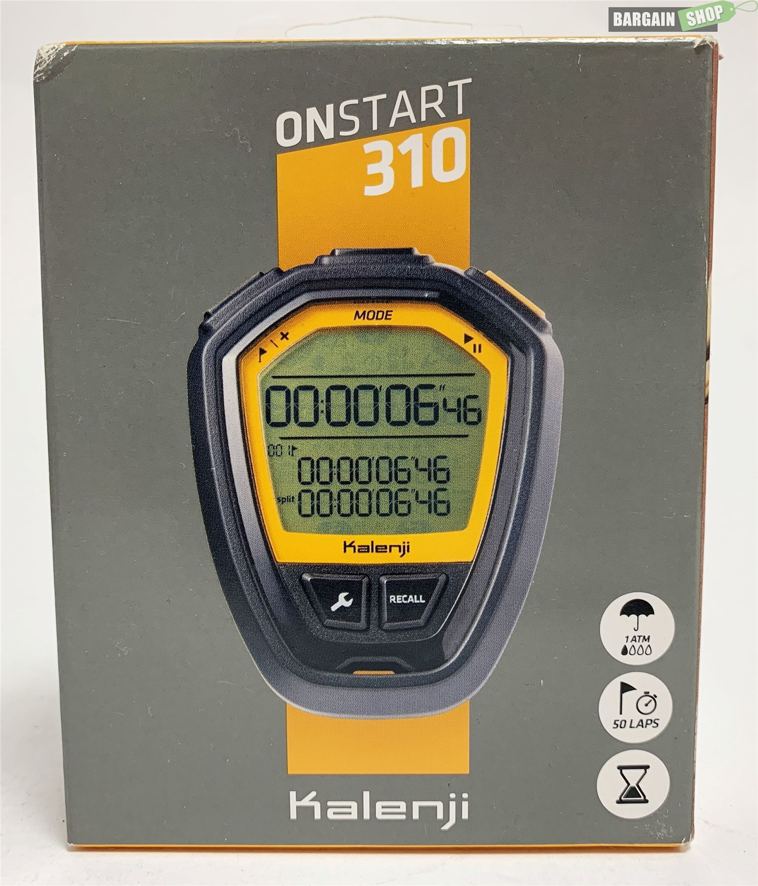 84f9de46e7df9 NEW Kalenji Geonaute OnStart 310 Stopwatch Decathlon Fitness Black/Orange