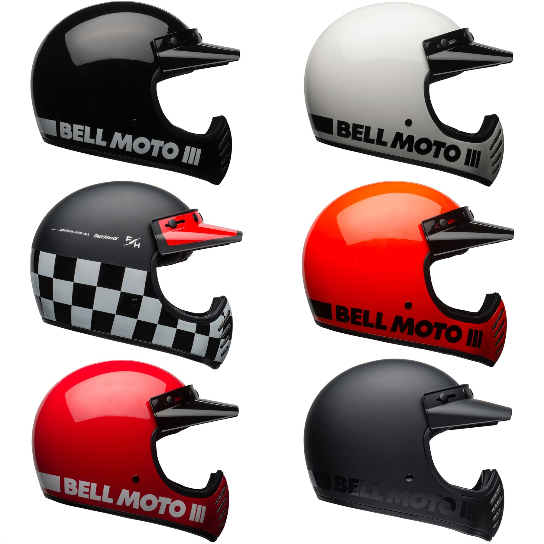 Bell Moto 3 >> Details About Bell Moto 3 Classic Motorcycle Helmet Choose Color Size