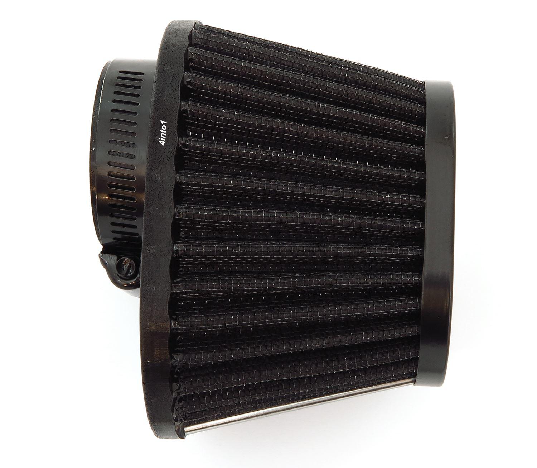 Black Performance Oval Pod Filter Honda CB750 Kawasaki Suzuki Yamaha 39mm