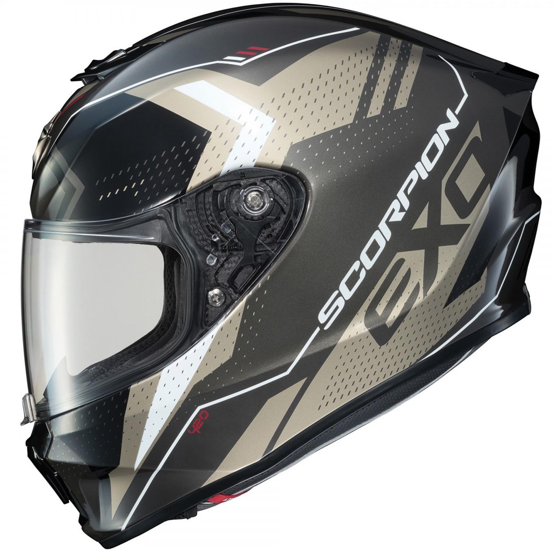 Scorpion EXO-R420 Seismic Motorcycle Helmet Titanium