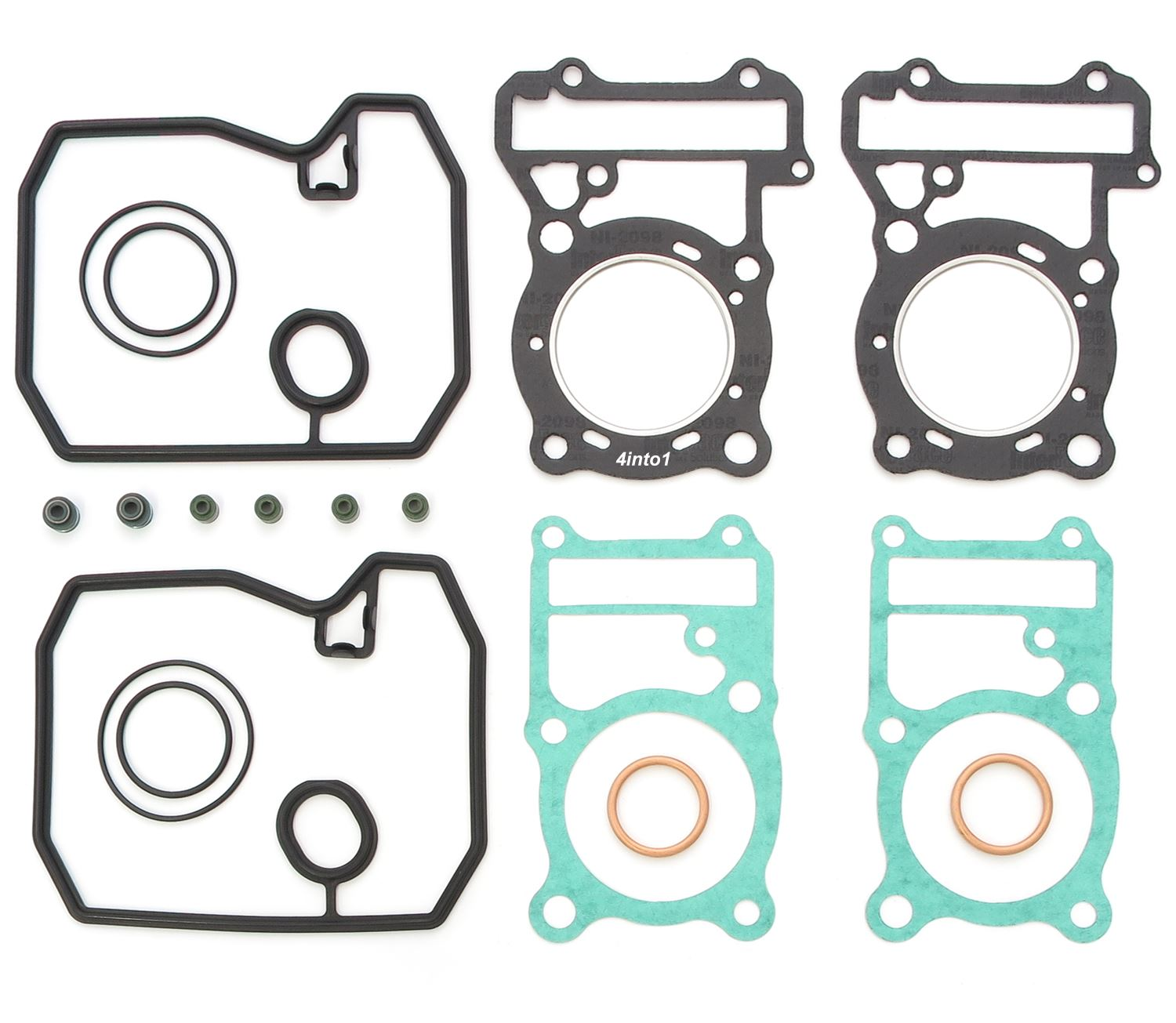 Top End Gasket Set Honda Vt500 Vt500c Shadow 1983 1986 Vt500ft Parts 4into1 Vintage Motorcycle