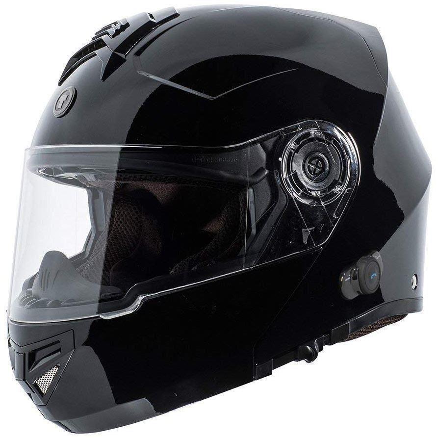 XL TORC T27B BLUETOOTH MATTE FLAT BLACK SOLID MODULAR MOTORCYCLE HELMET DOT XS