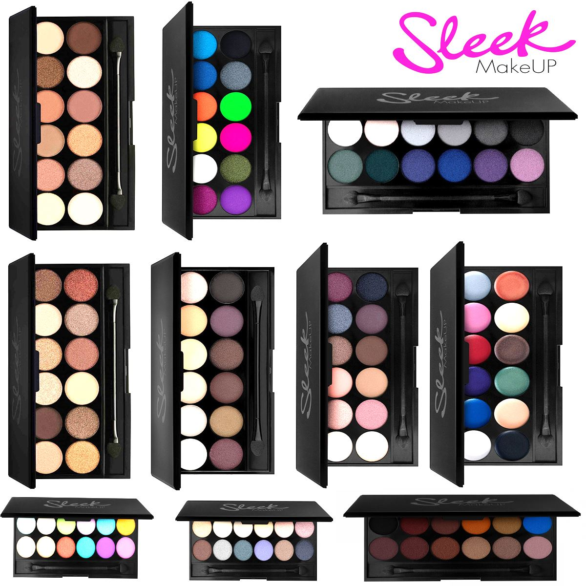 100 genuine sleek make up i divine 12 colours eyeshadow palette ebay