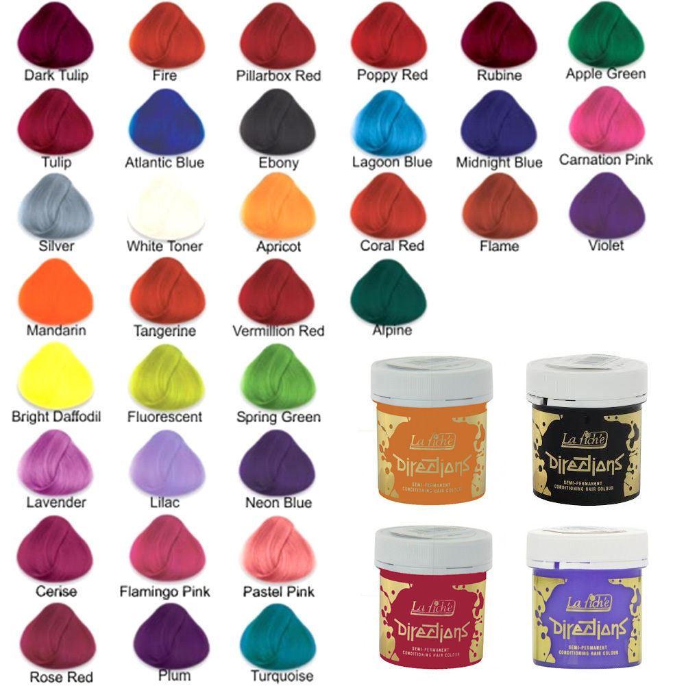 2 4 X La Riche Directions Semi Permanent Hair Colour Dye All