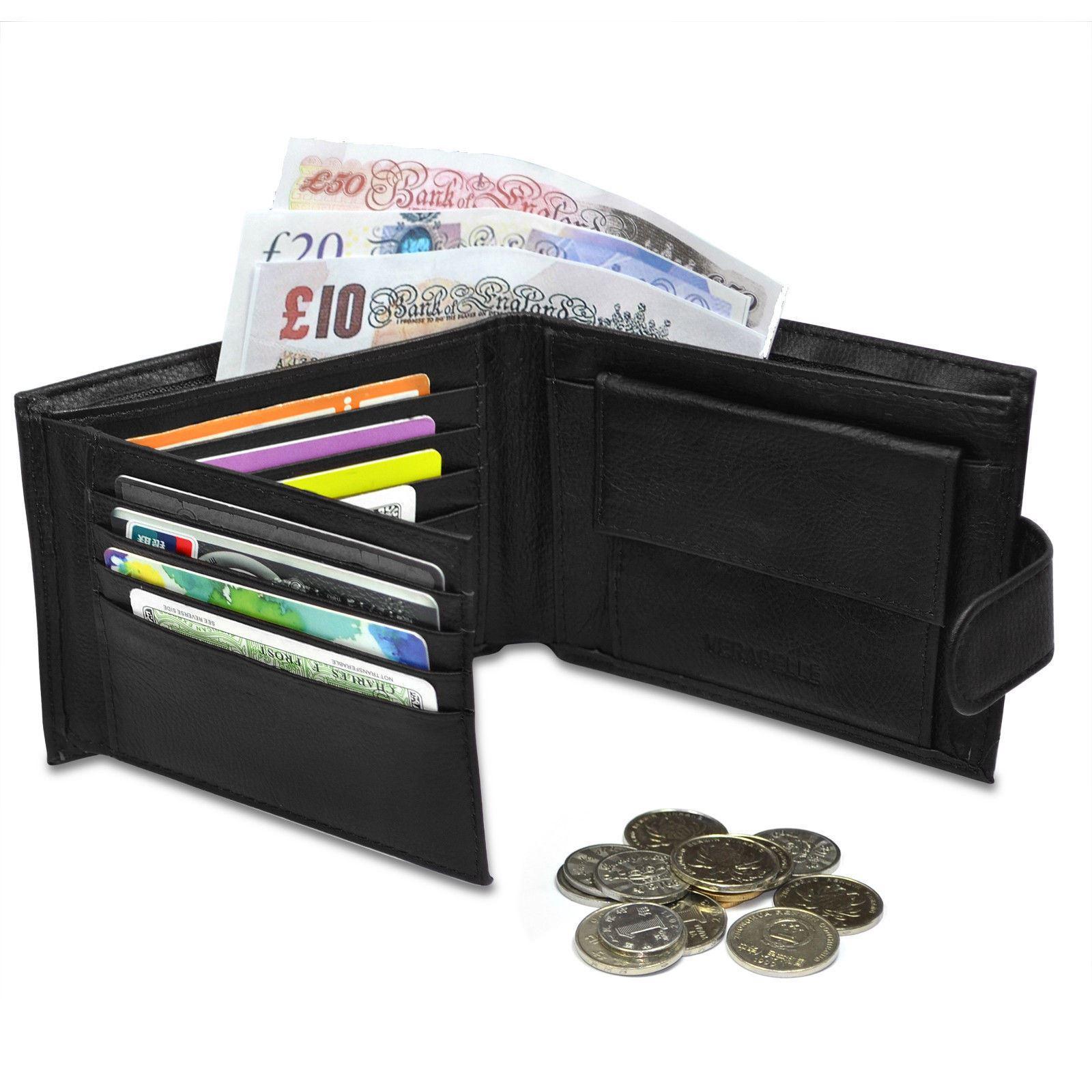 titolare della carta di credito borsetta nero vendita nel Regno Unito Linea uomo lusso morbido Portafoglio in pelle di qualità