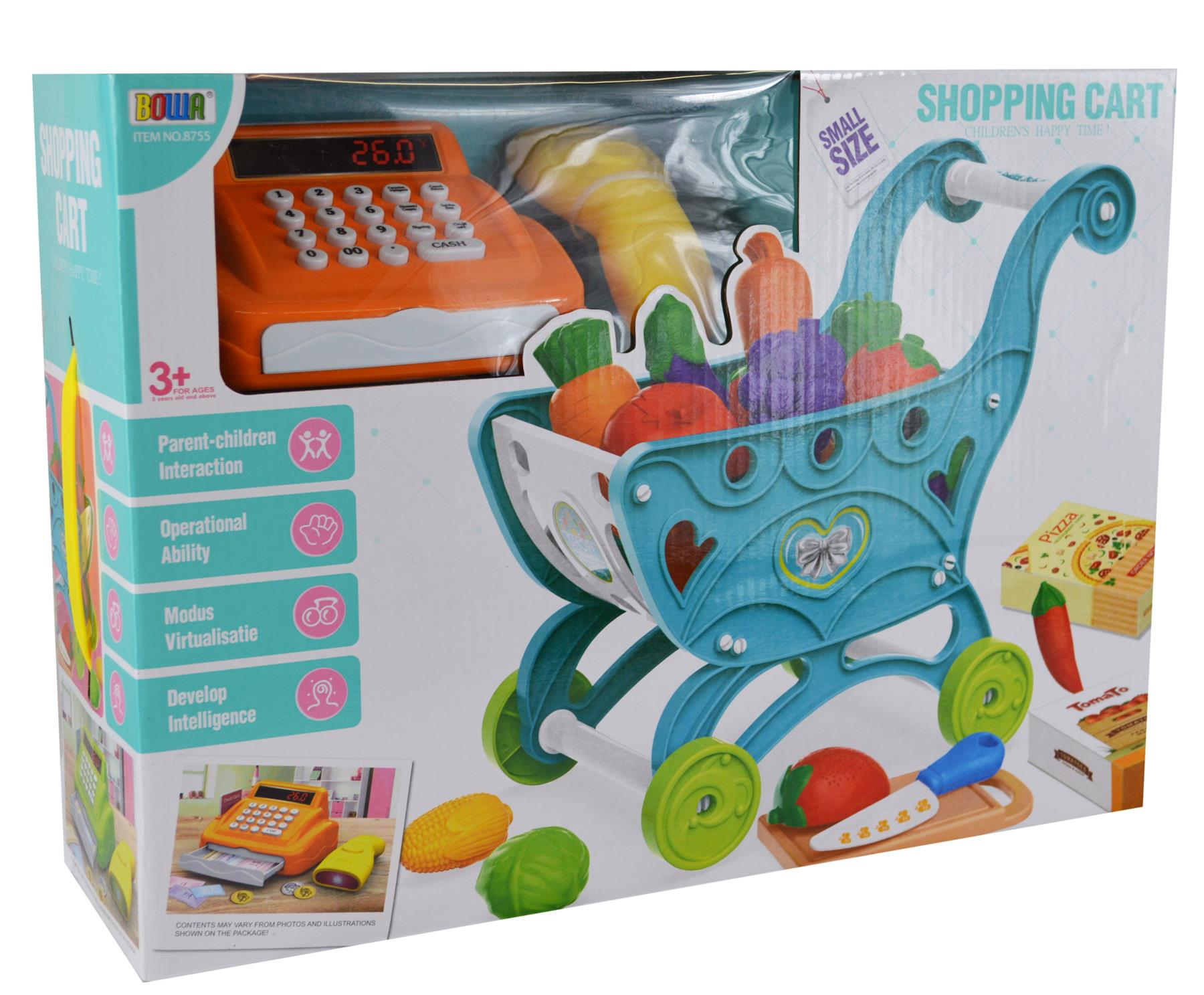 Carro-de-la-compra-Ninos-Childrens-Carro-Con-Juego-Juguete-Regalo-fruta-de-plastico-36-piezas miniatura 9