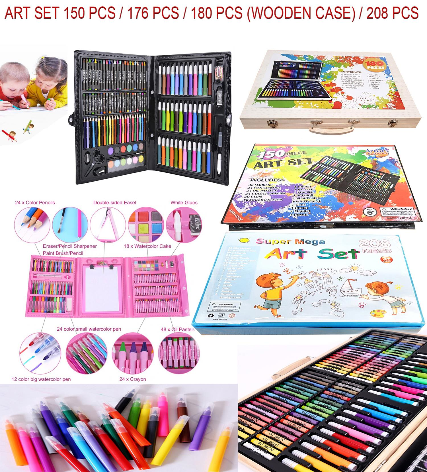 Felt Crayons Oil 90 Pcs Colouring Set Boys Girls Arts /& Crafts Fun Wax Felt