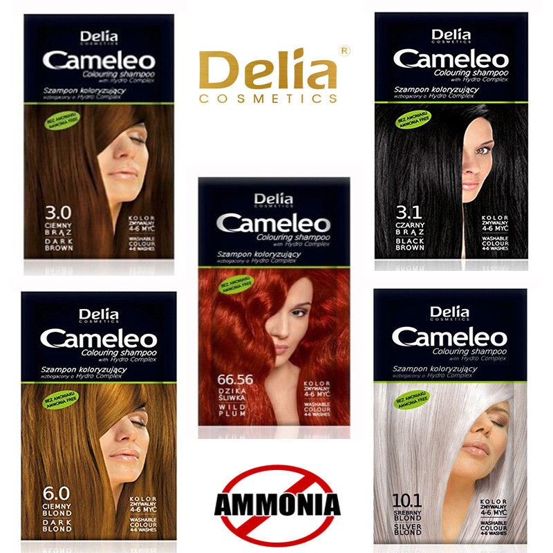 Delia Multi Effect Hair Colour Shampoo Dye Sachet Lasting 4 8 Washes