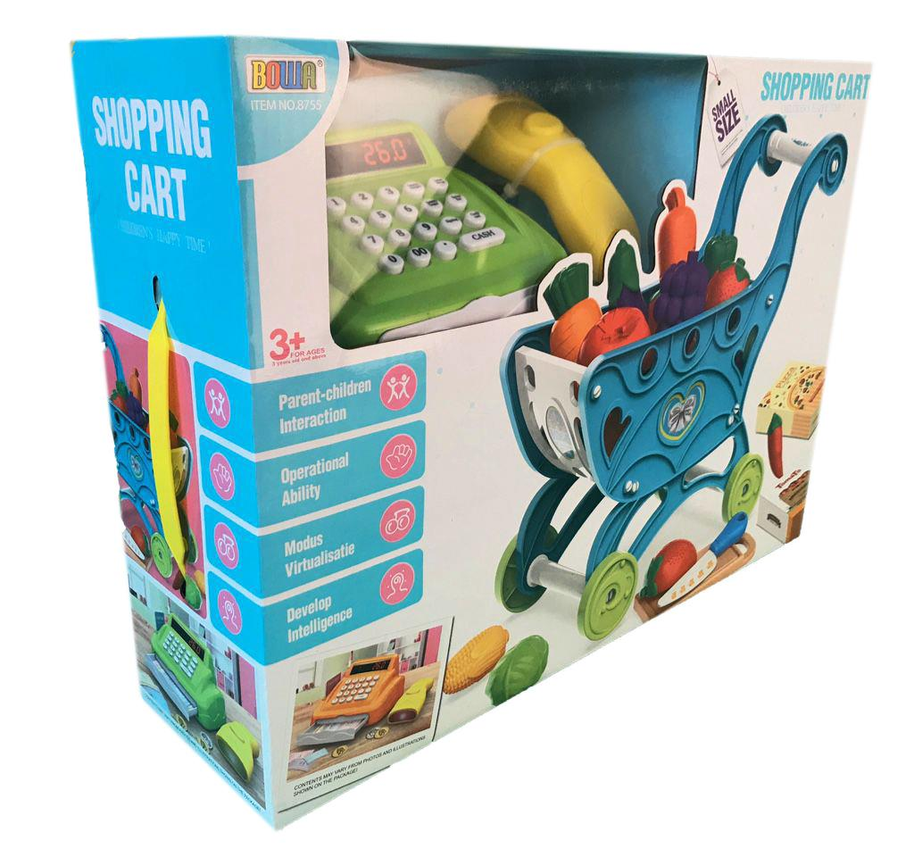 Carro-de-la-compra-Ninos-Childrens-Carro-Con-Juego-Juguete-Regalo-fruta-de-plastico-36-piezas miniatura 7