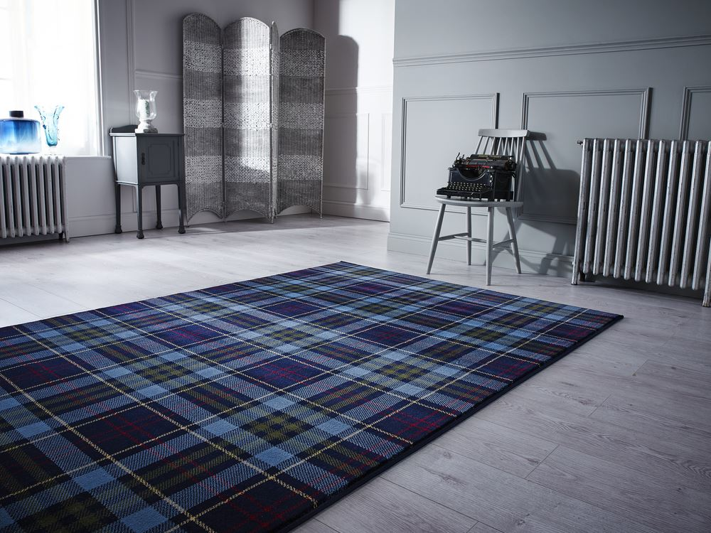 Wonderful Tartan Hard Wearing Quality Checkered Rug Soft Touch