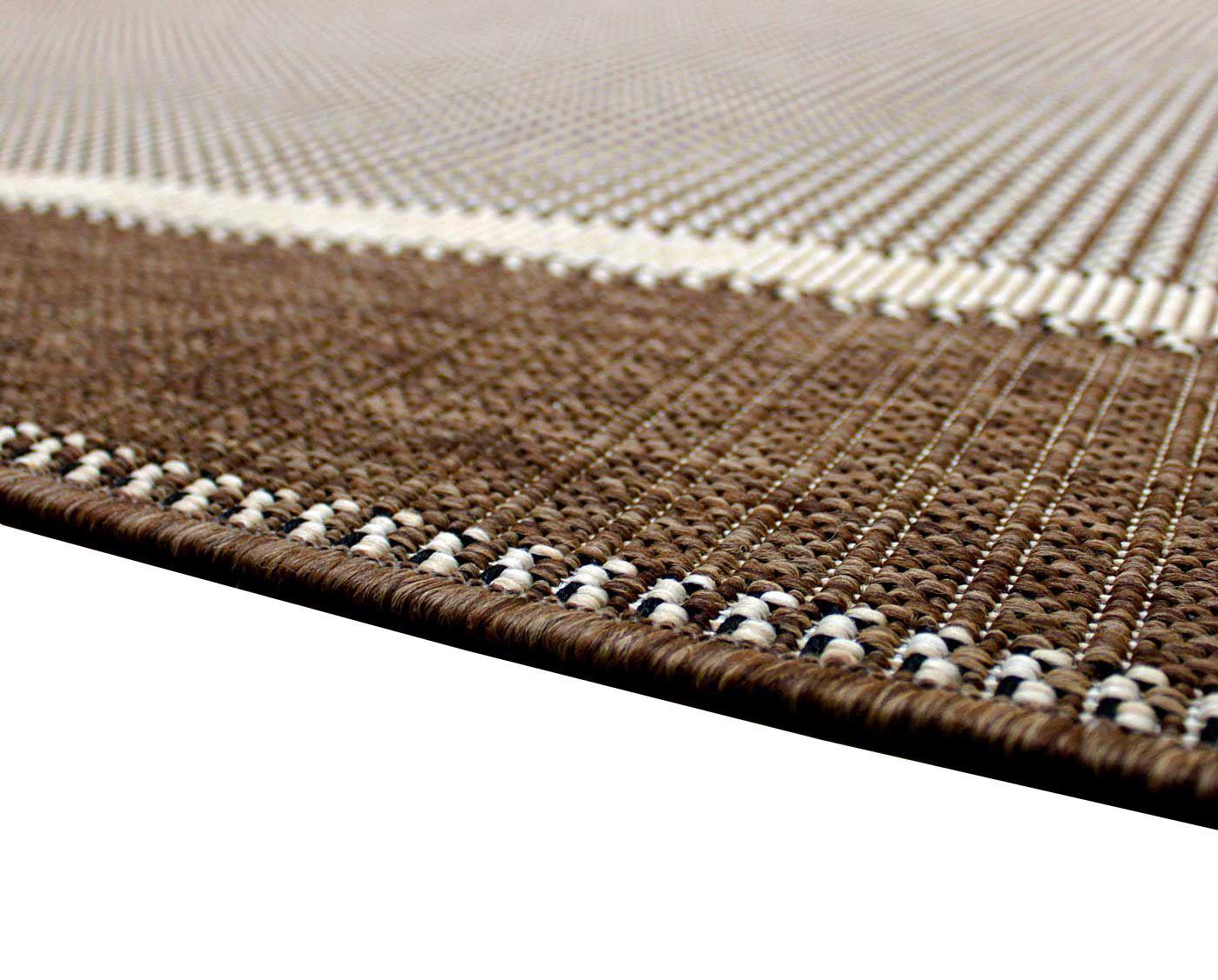 New Flatweave Border Pattern Hardwearing Indoor / Outdoor Rug ...