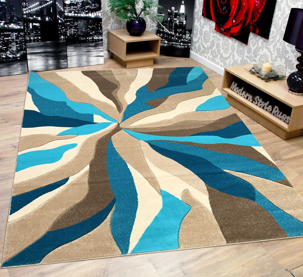 modern soft touch quality floor rug black red white grey teal beige turquoise. Black Bedroom Furniture Sets. Home Design Ideas