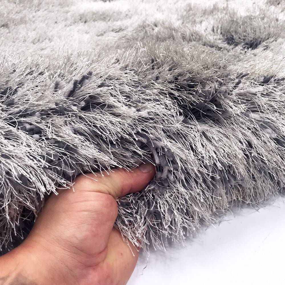 RRP-249-99-9cm-Super-Plush-Mink-amp-Silver-Grey-Shaggy-Pile-Living-Room-Rug-UK