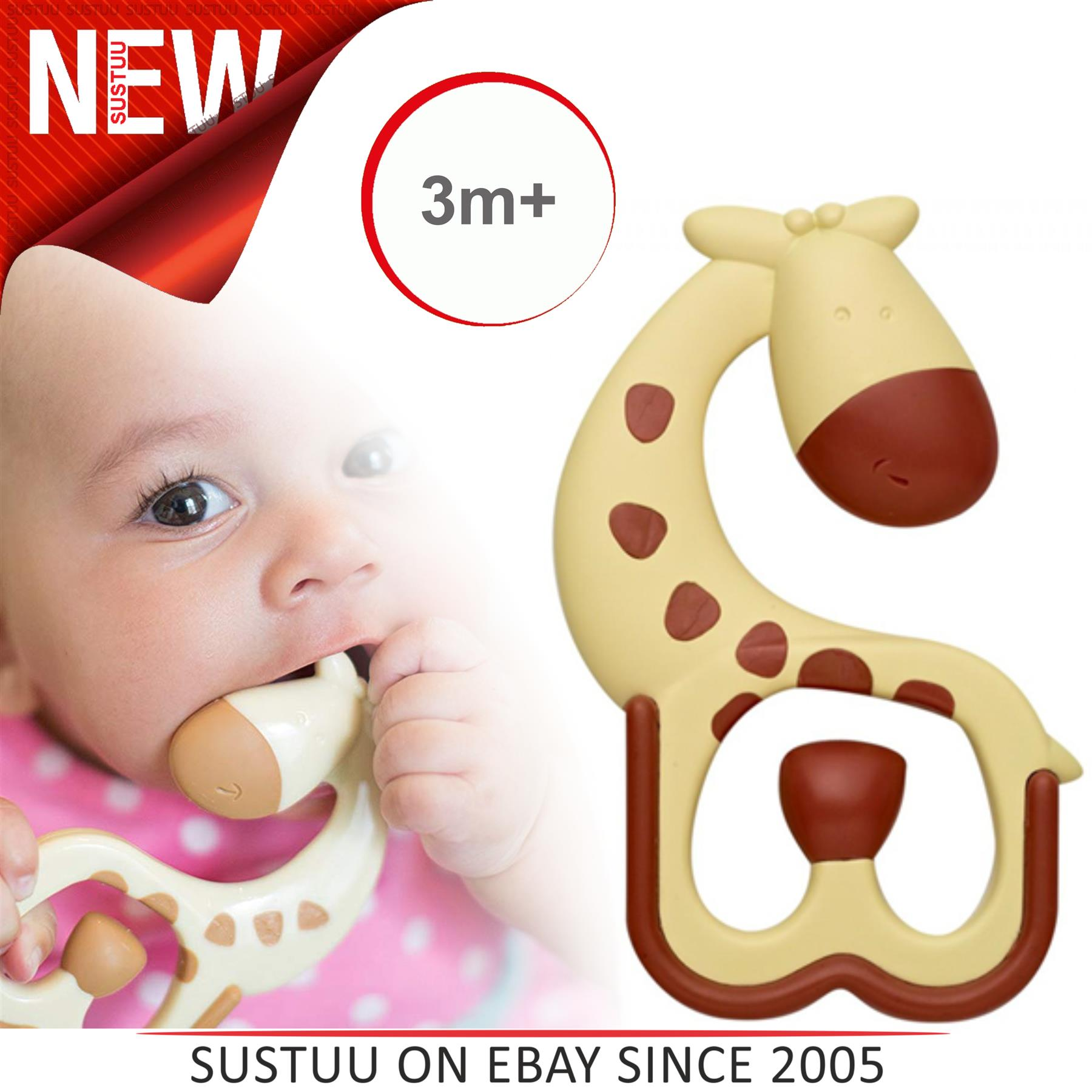 Browns Ridgees Massaging Teether Dr Giraffe Brand New Free Ship
