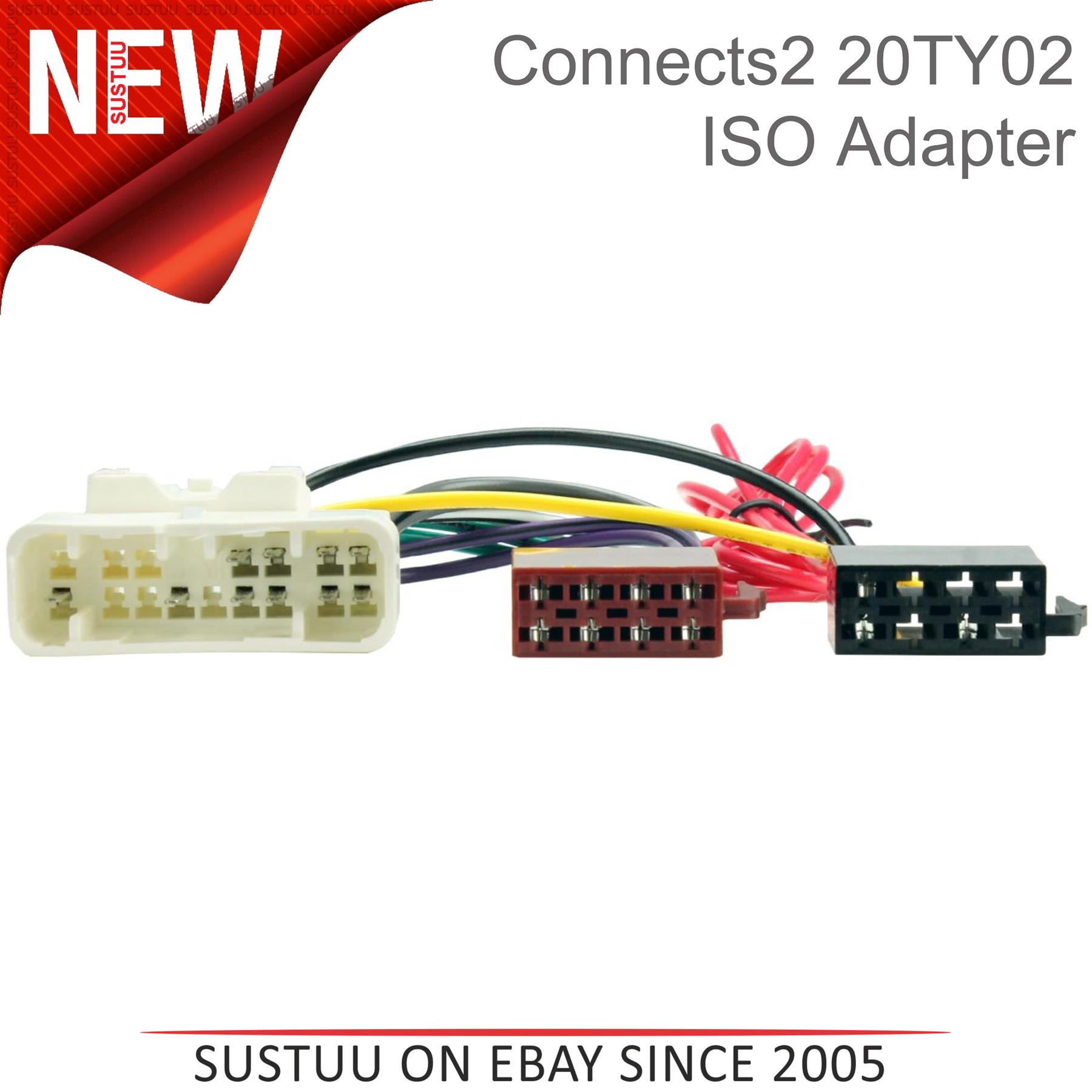 Toyota Land Cruiser CD radio stereo wiring harness adapter lead loom ISO wire