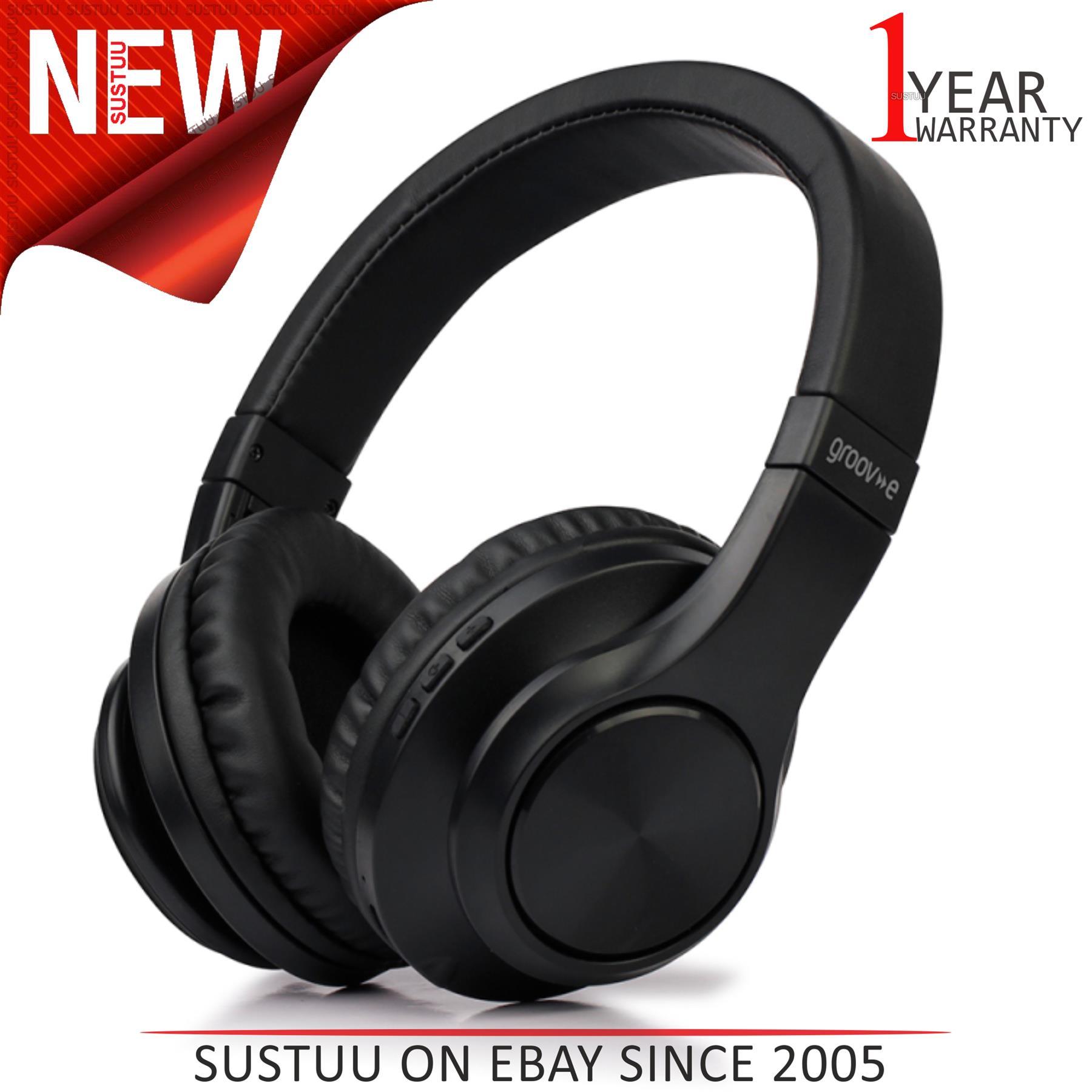 Groov E Bt550 Rhythm Wireless Bluetooth Stereo Headphones Folding Design Black Ebay