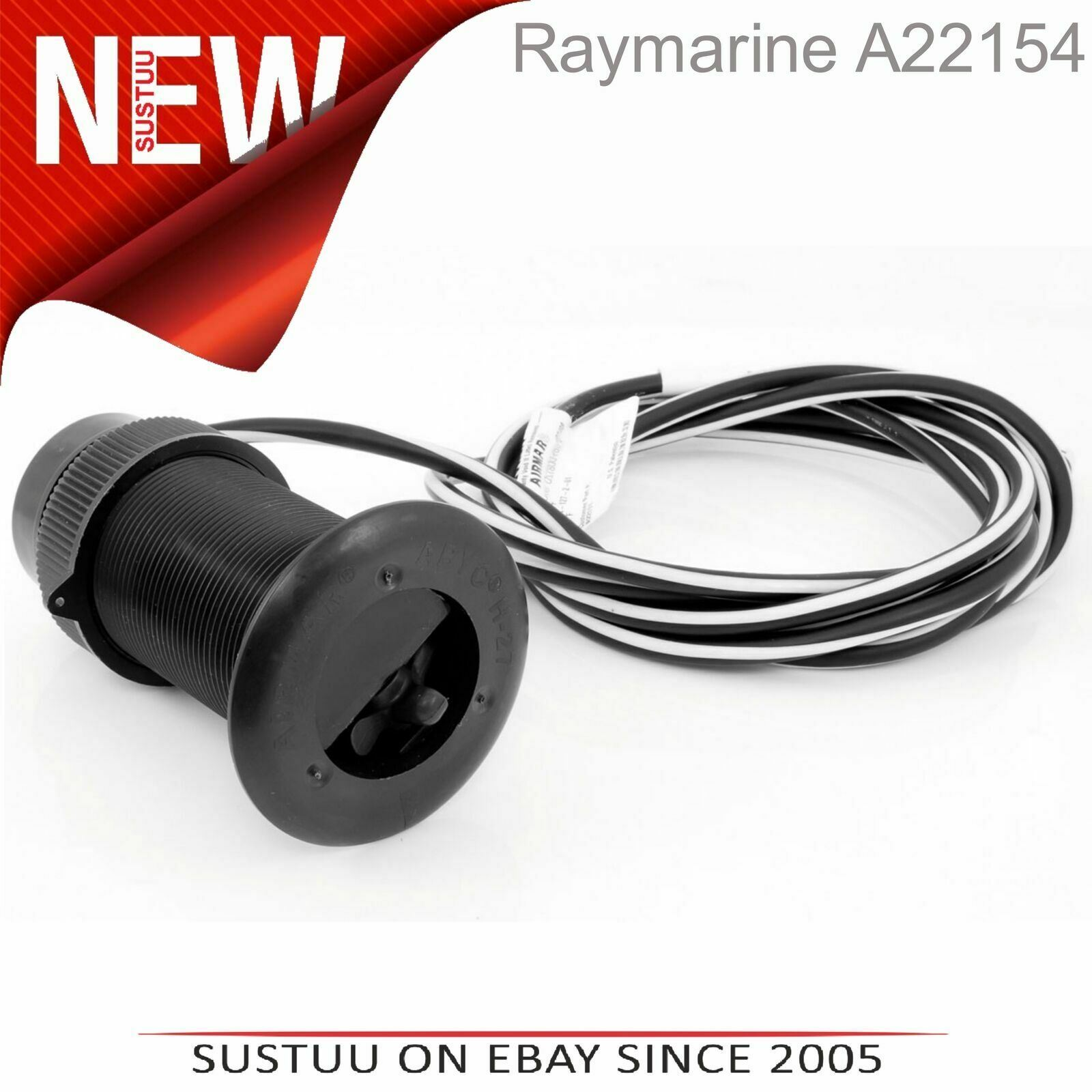 Raymarine DST800 Analog out 200kHz Through Hull Plastic Depth Speed Temp A22154