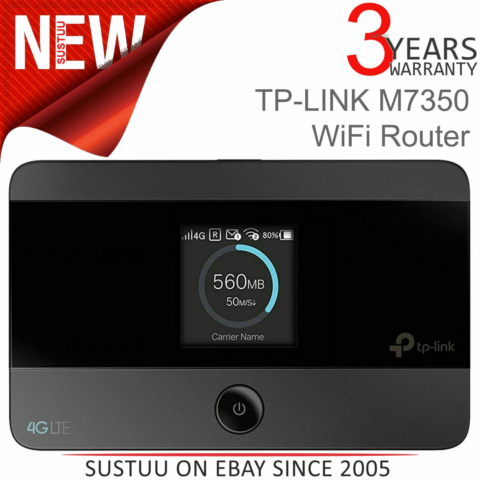 Tp Link M7350 4g Lte Advanced Mobile Wifi Router Black V4 Wireless Cable Ebay